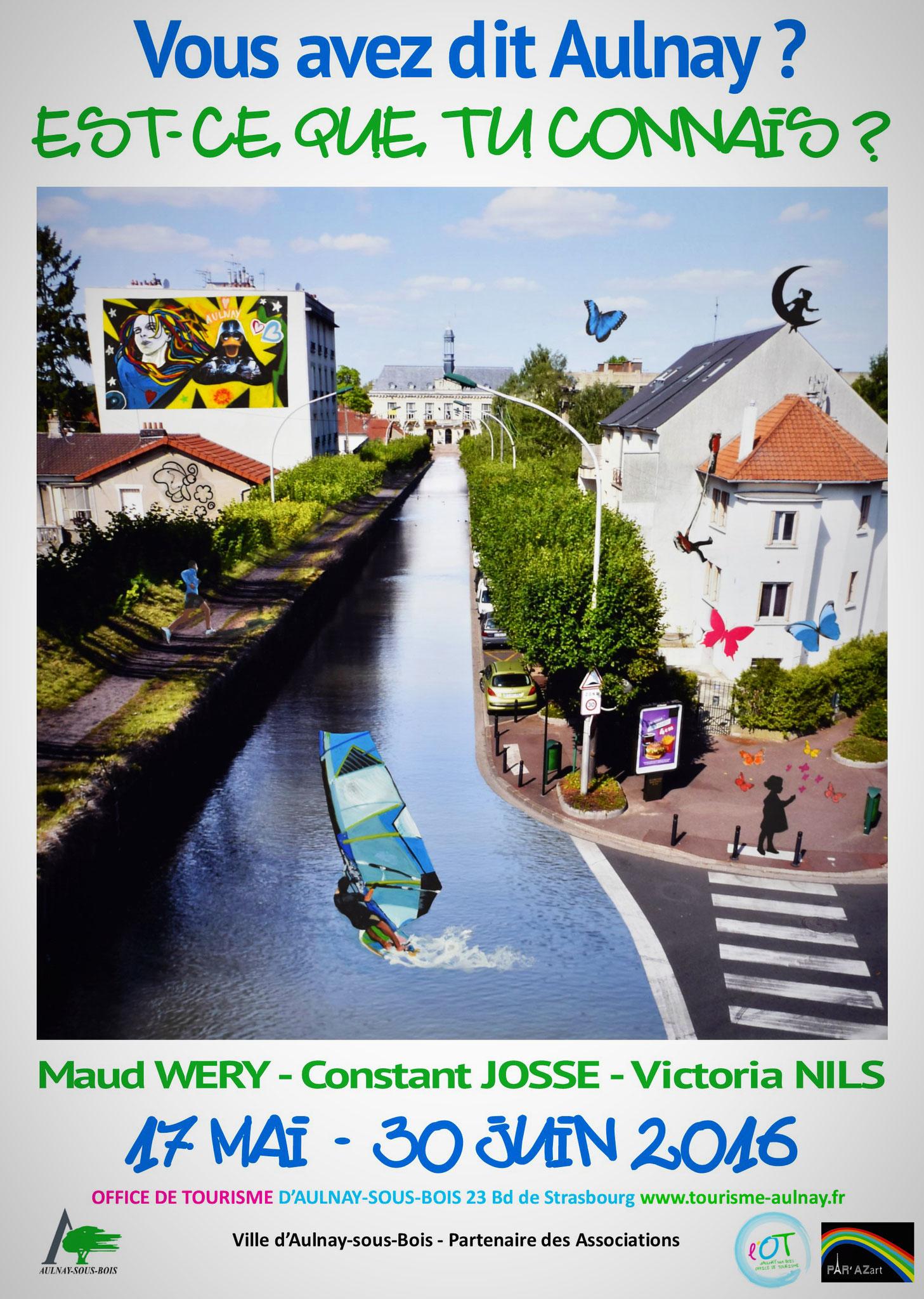 Affiche exposition Aulnay - Travail en commun : Constant, Victoria et Maud