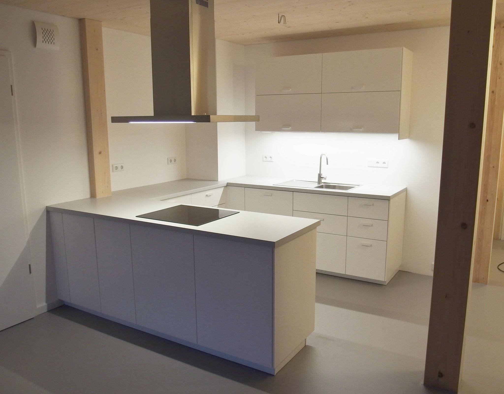 Ikea-Küche handwerklich ergänzt
