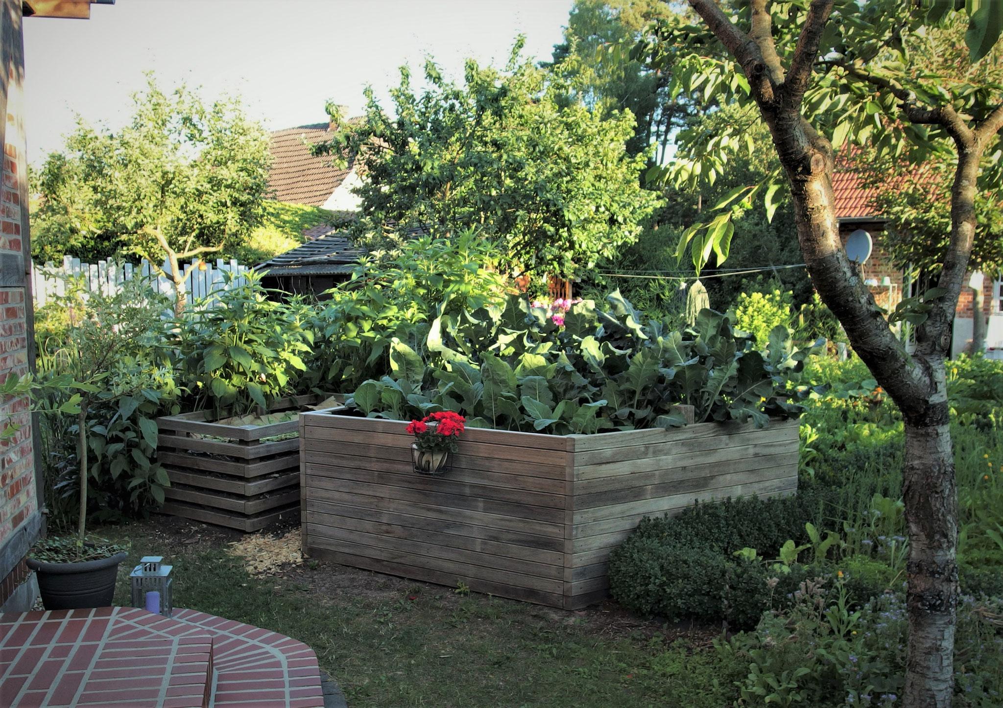 Hochbeet und Kompost