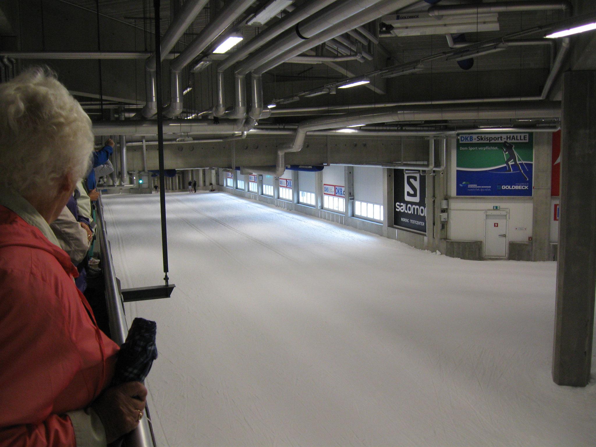 Blick in die Skisporthalle ...