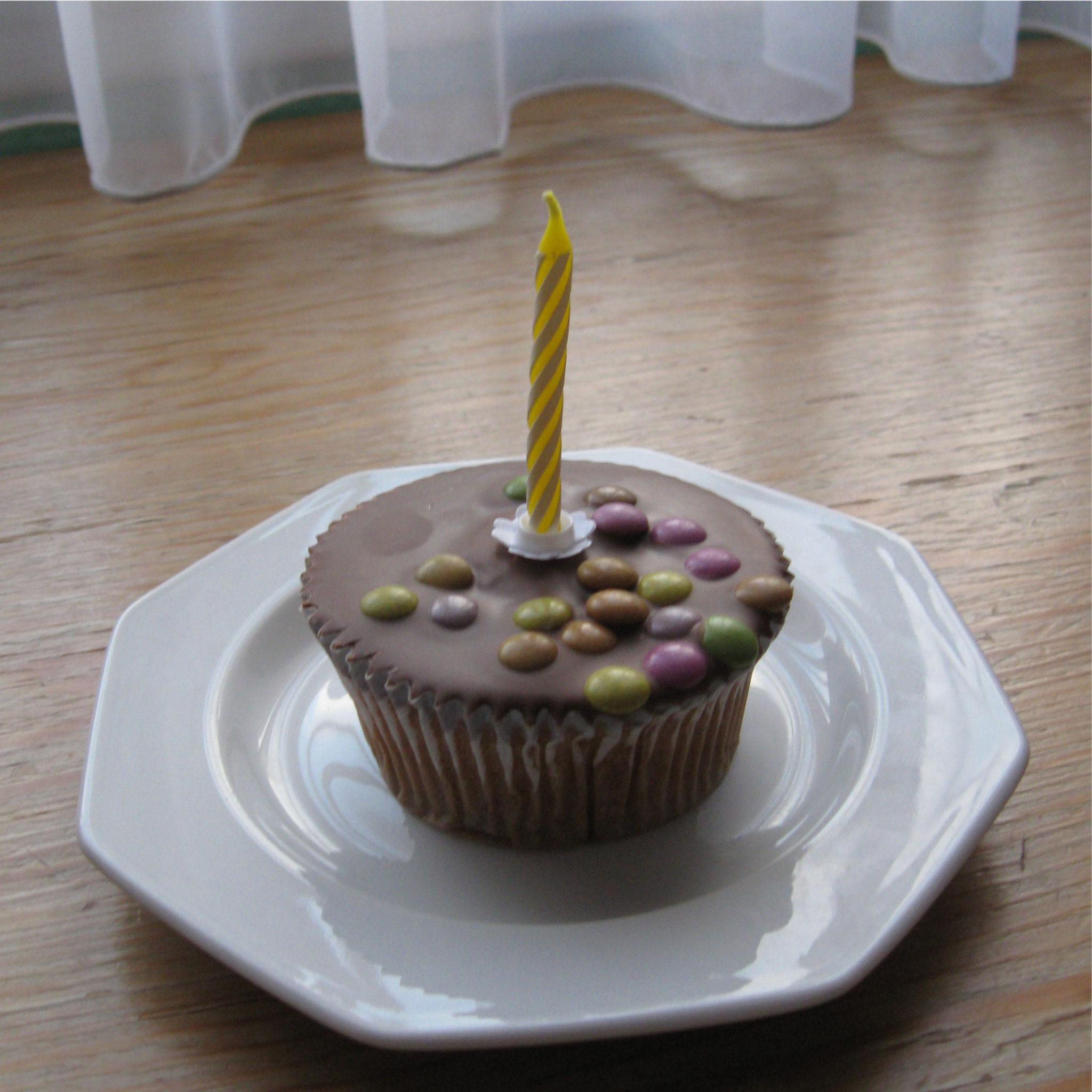 Wolfgangs Geburtstagstorte - klein aber dran gedacht.