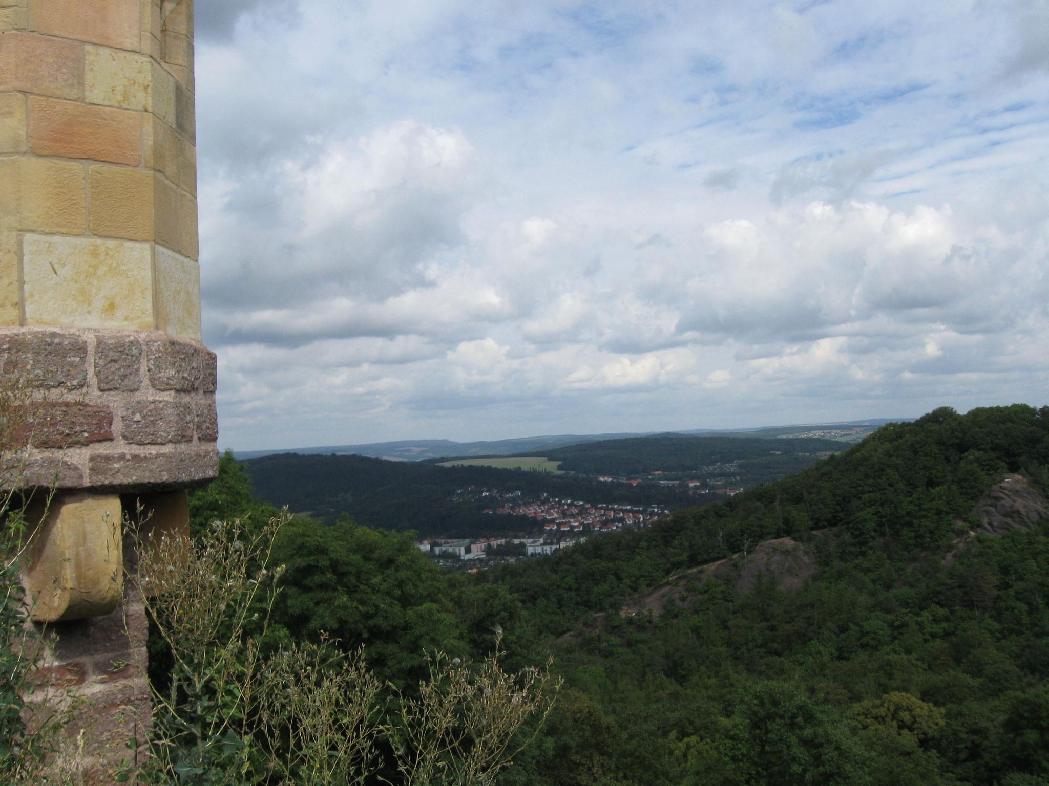 ... der Blick von der Wartburg.