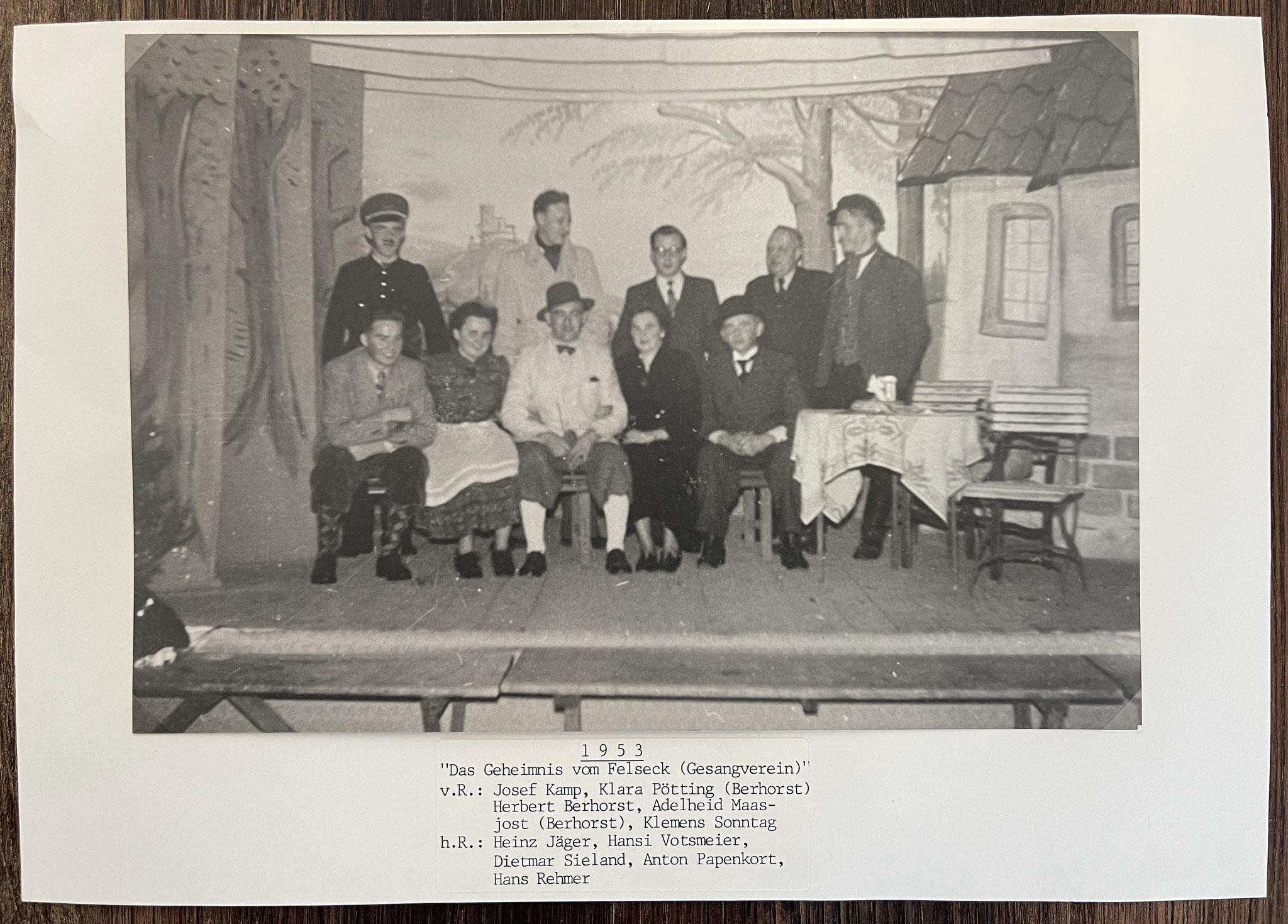"""1953 """"Das Geheimnis vom Felseck"""""""