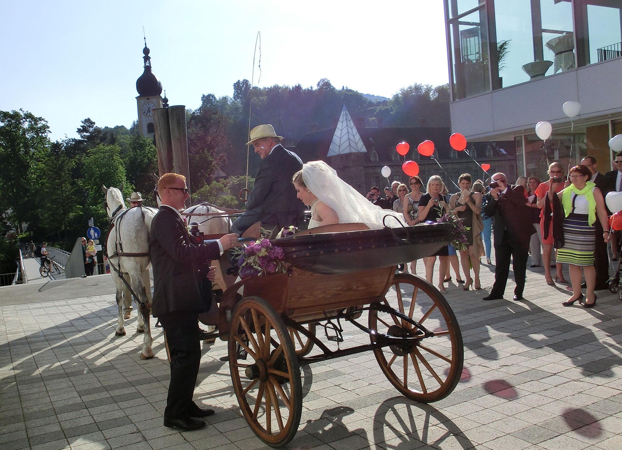 Mit der Kutsche zum Schloss - © Schlosshotel Eisenstrasse