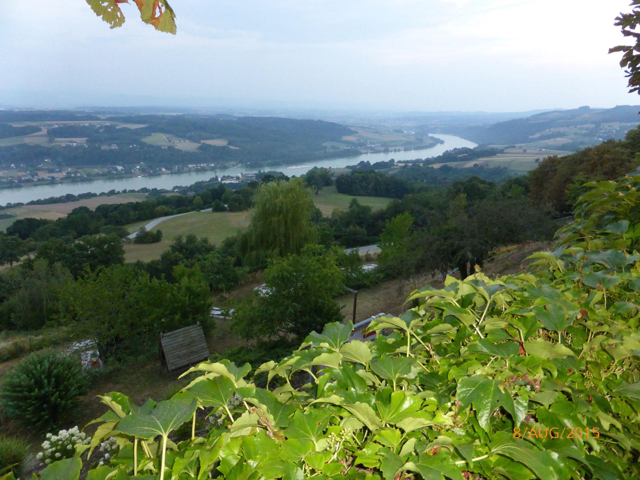 Ausblick vom Hotel Schachner auf die Donau/Wachau
