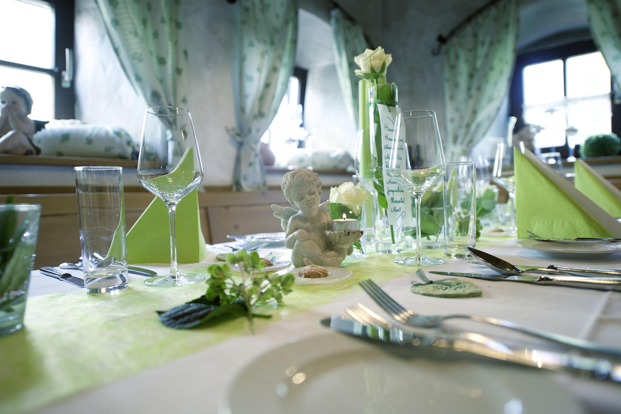 Hochzeitstafel Eidenberger Alm