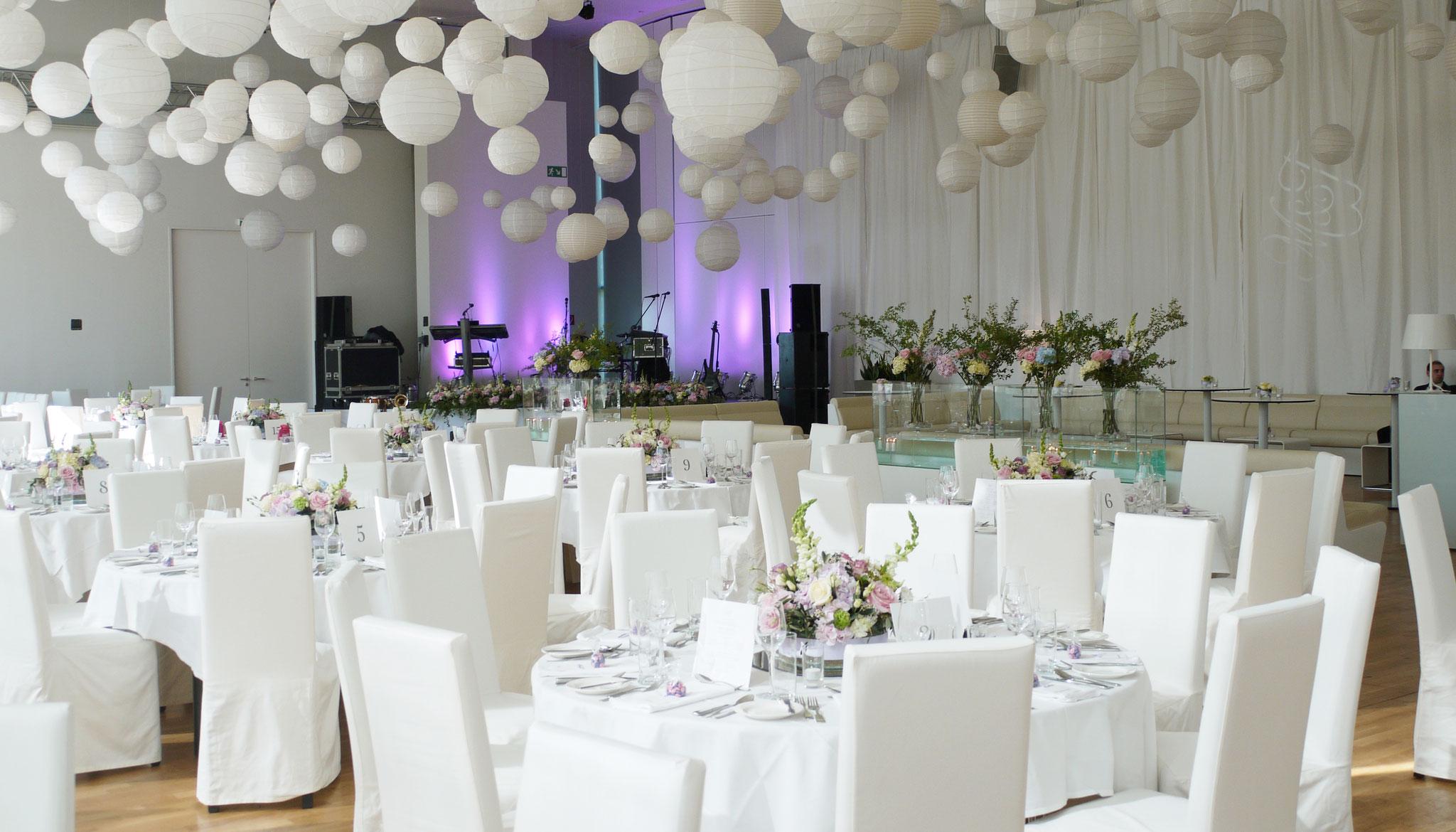 Schönes Ambiente für die Hochzeitsfeier