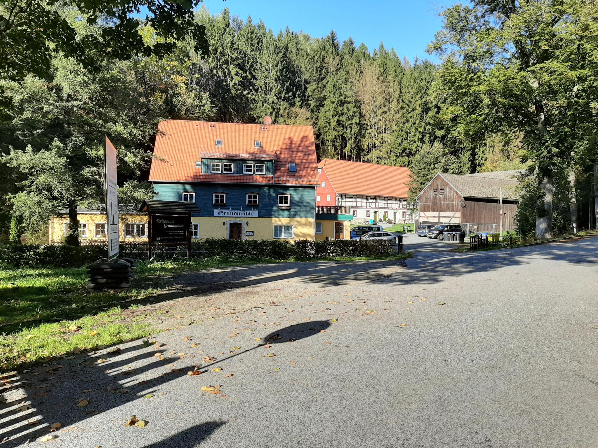 """Gruppenhaus """"Grundmühle"""" in der Sächsischen Schweiz Herbst 2019"""