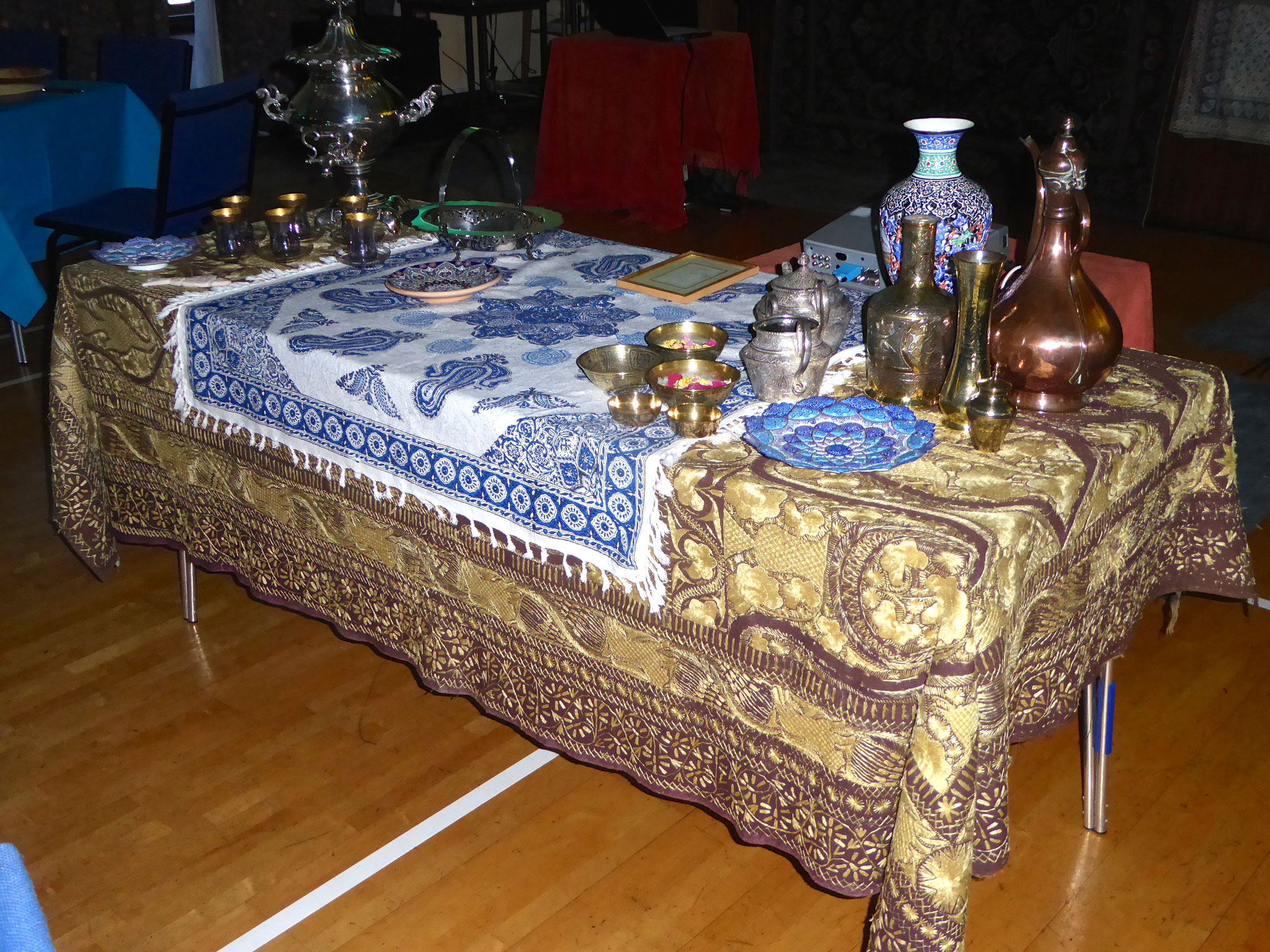 Some of the Middle-Eastern artefacts on display
