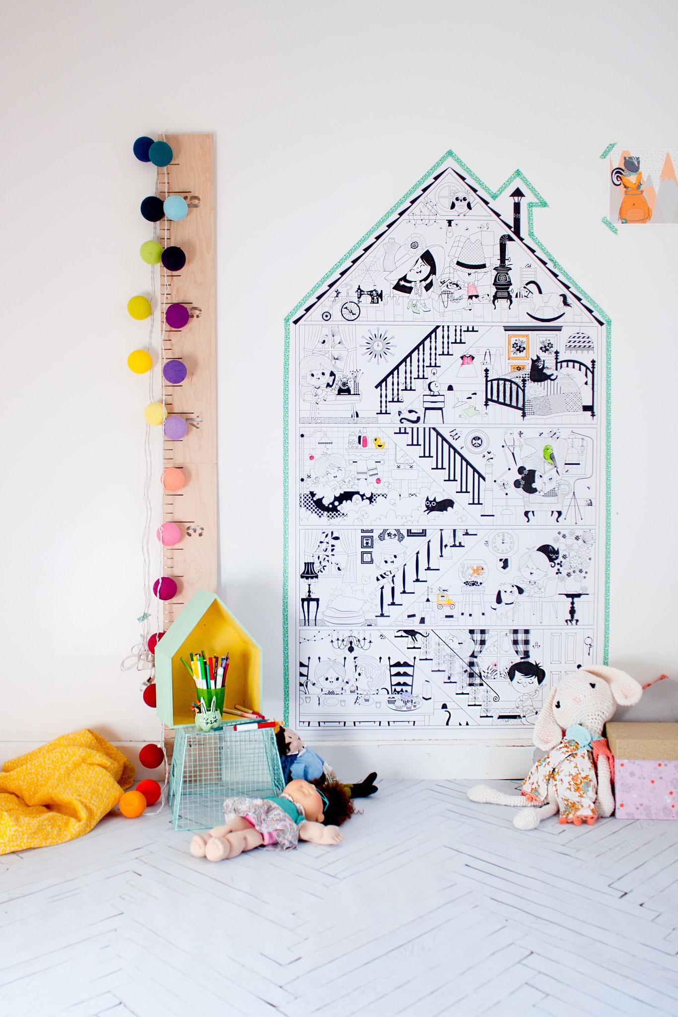 Affiche à colorier : La petite maison