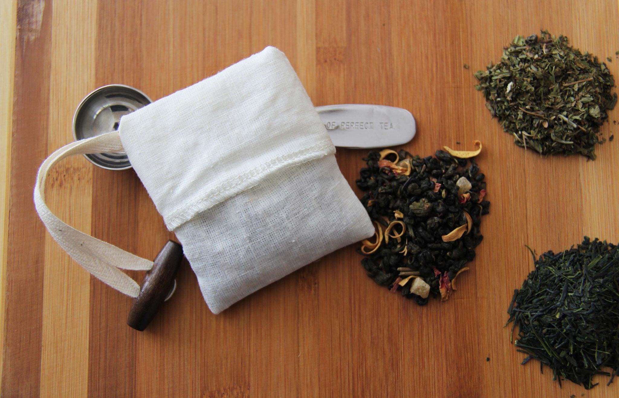 Sachet à thé réutilisable. Cliquez sur la photo pour les informations!