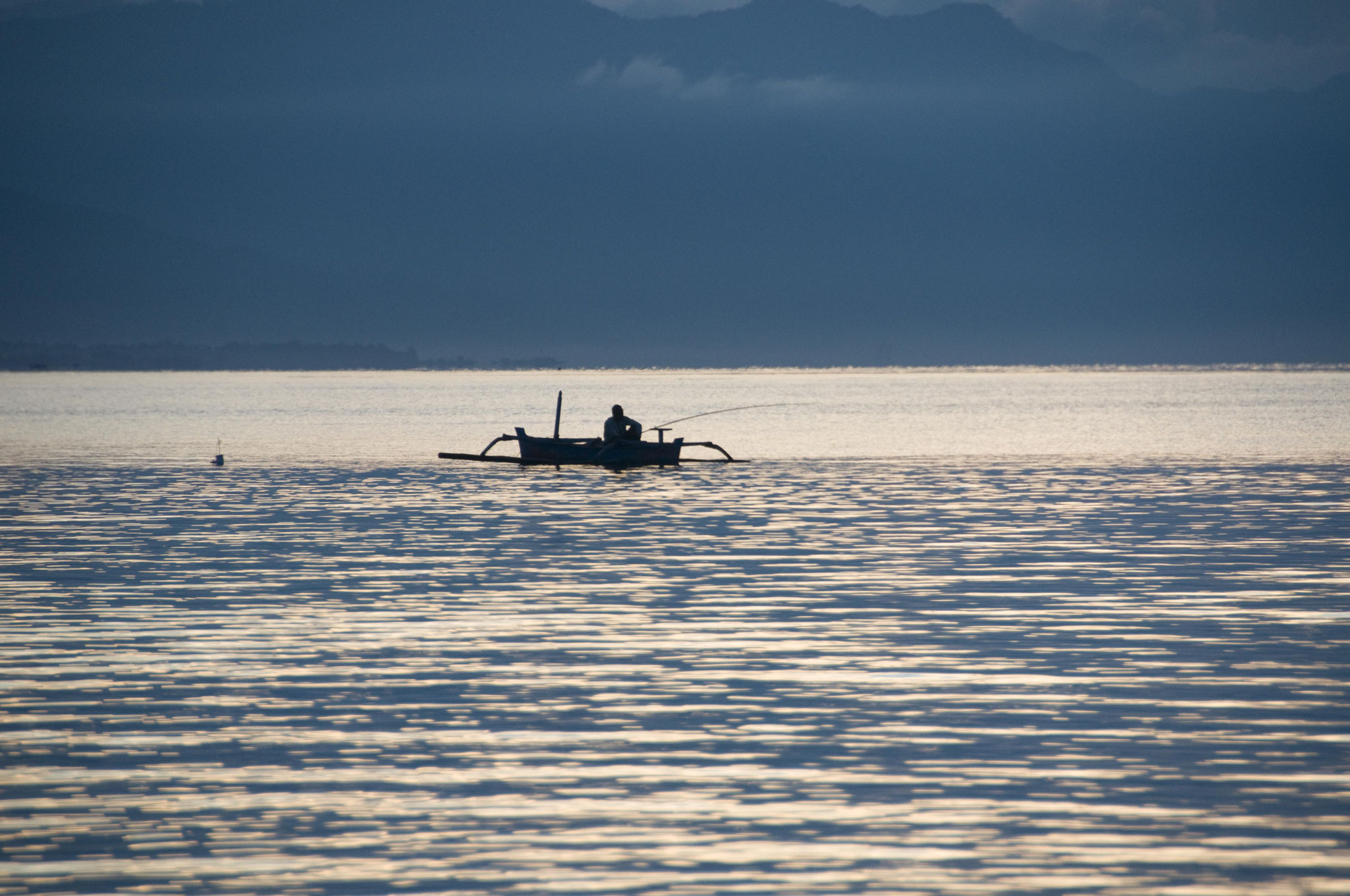das ruhige Meer von Lovina