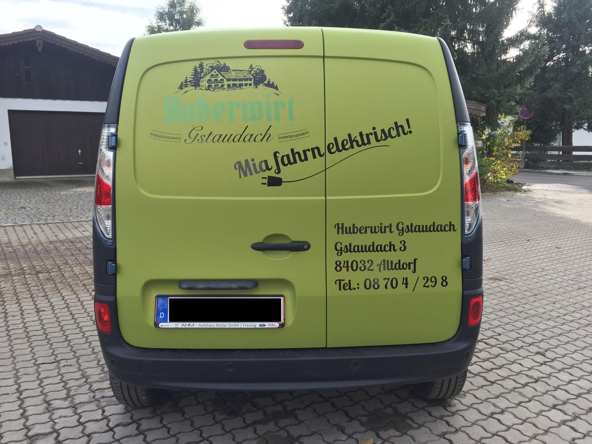 Elektro Renault Vollfolierung incl. Beschriftung