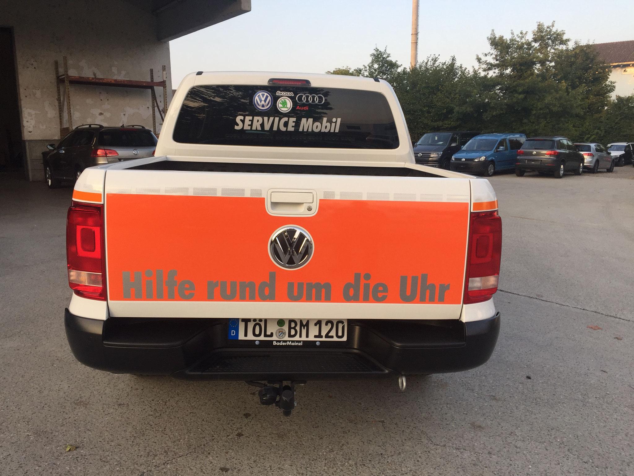 VW Amarok Firmenbeschriftung