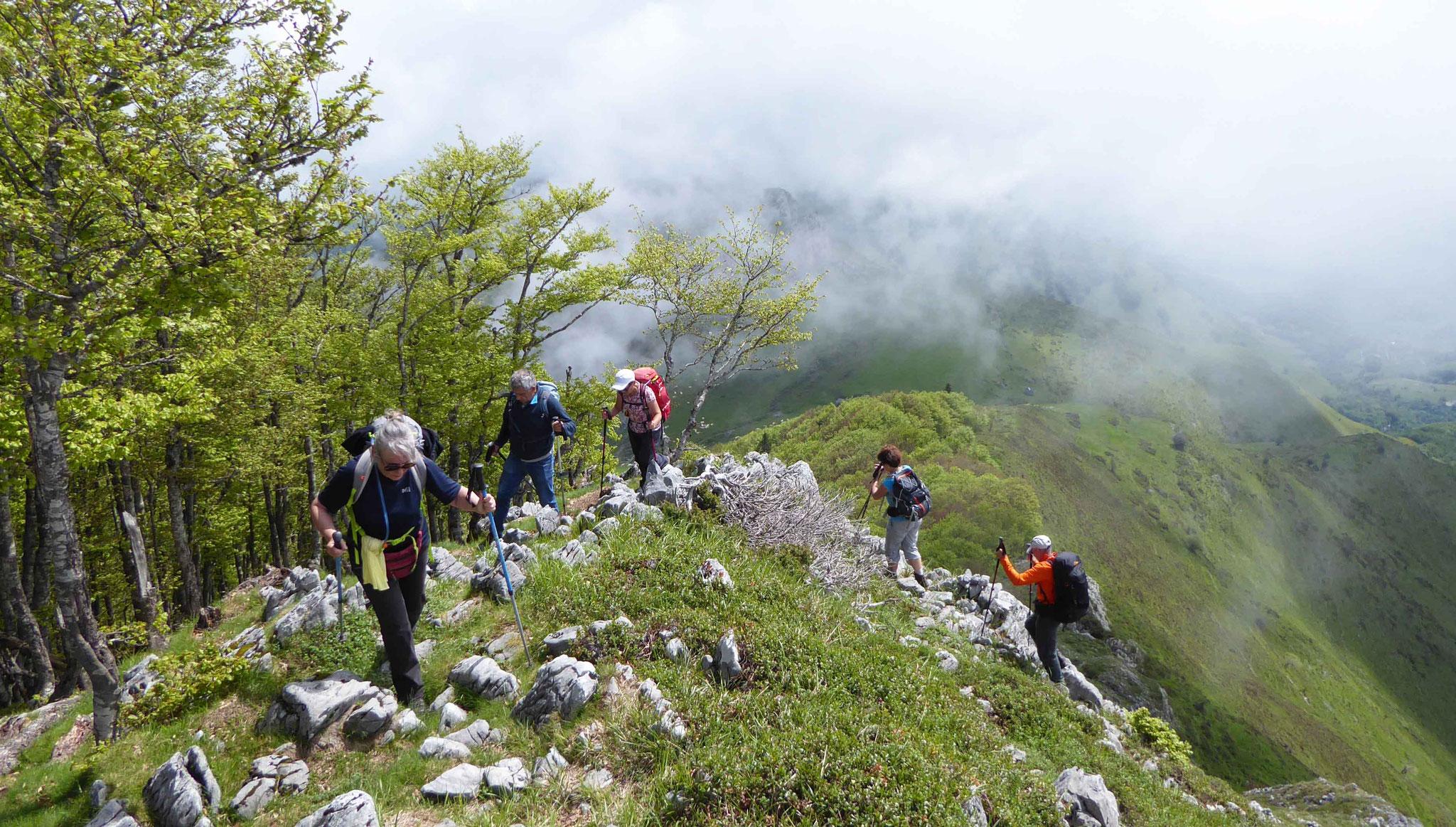 Derniers contreforts avant le sommet