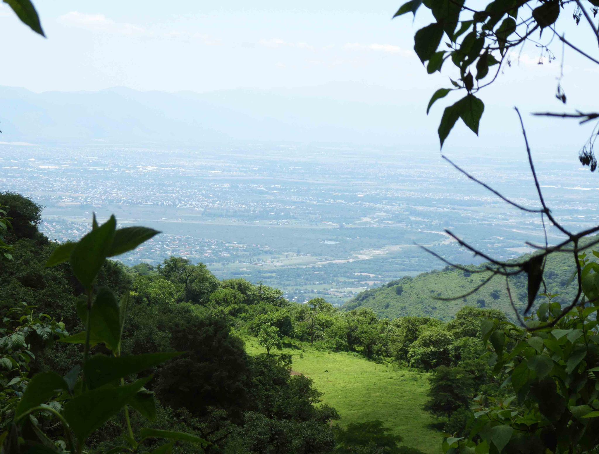 Salta au fond depuis les hauteurs de San Lorenzo