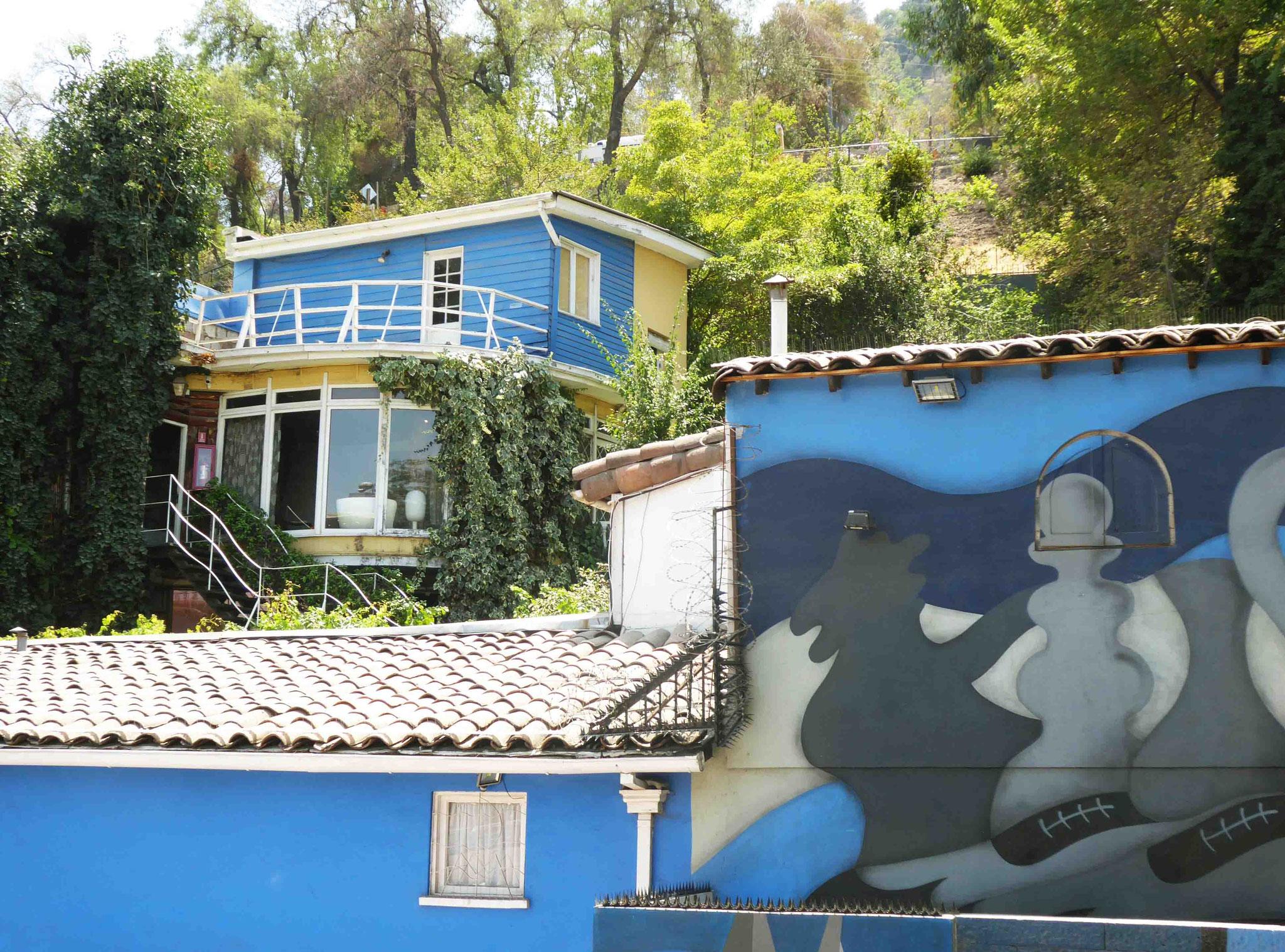 La Chascuena, autre maison de Pablo Neruda au pied du Cerro San Cristóbal