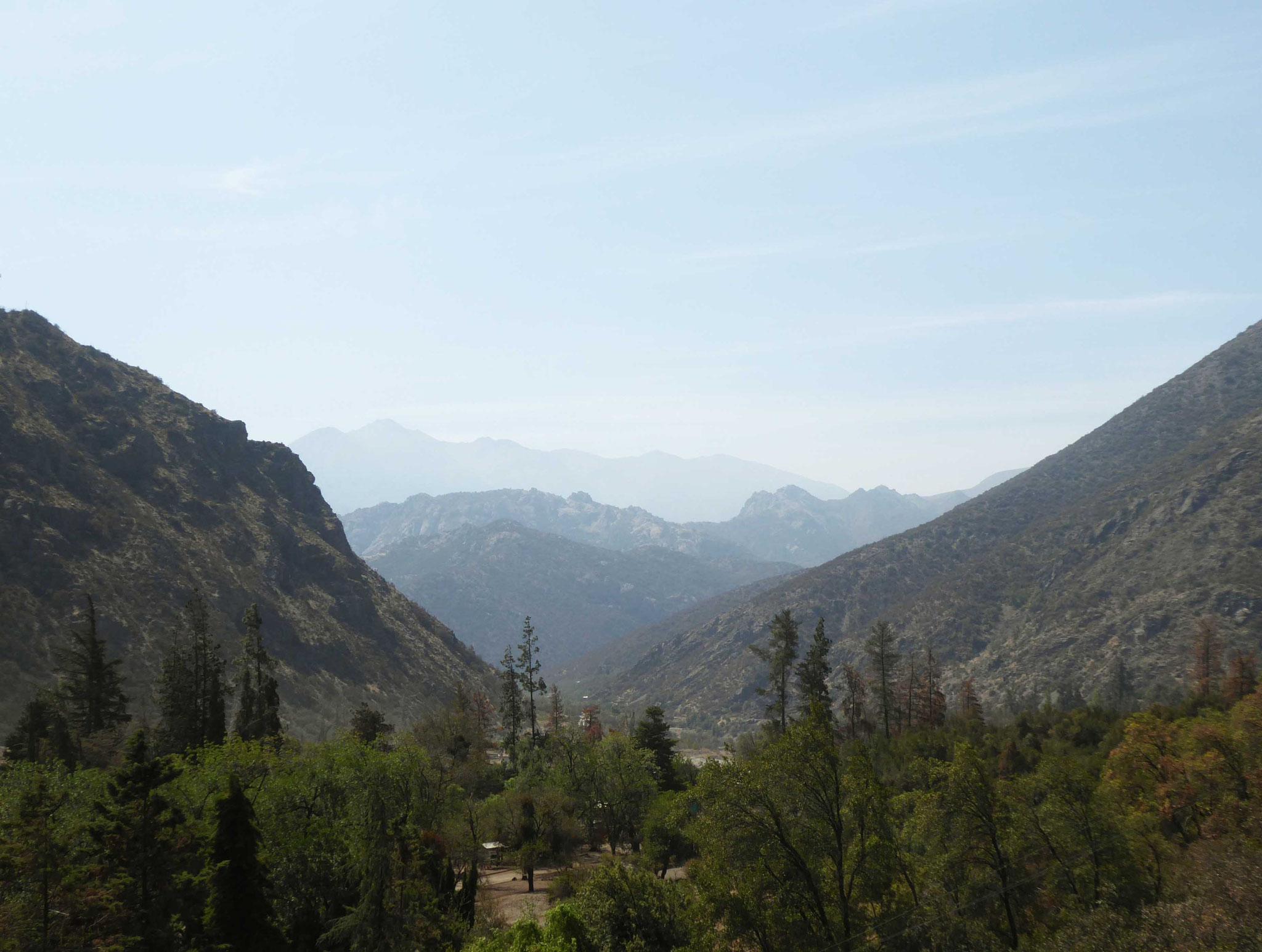 Vallée encaissée du Cajón del Maipo