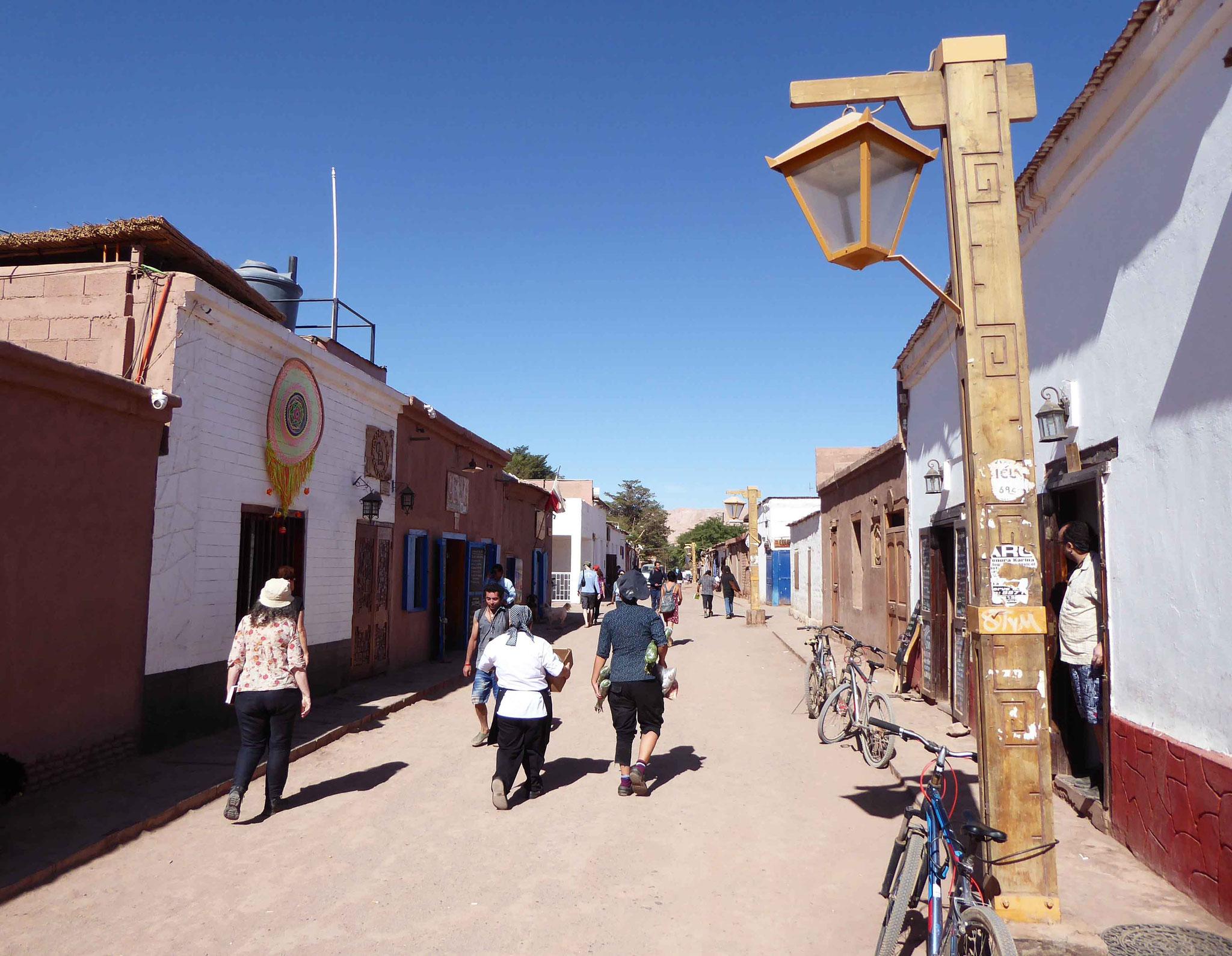 Ruelle typique du centre de San Pedro de Atacama
