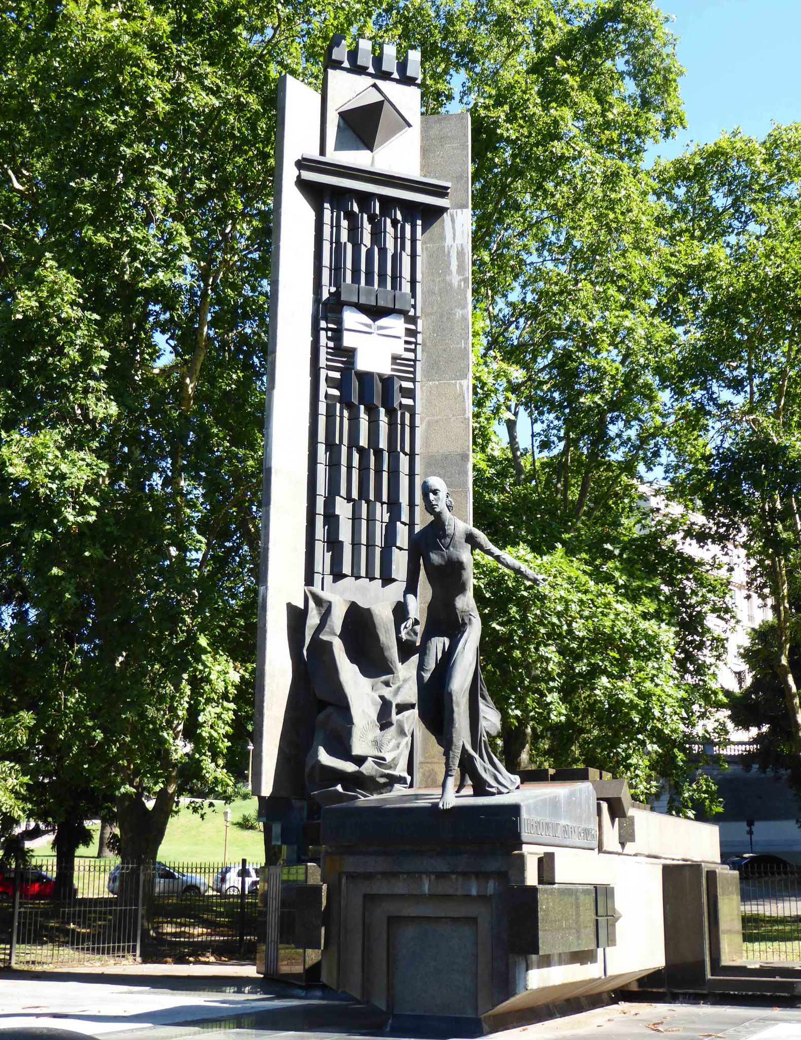 Monument dédié à Evita Peron dans le quartier de la Recoleta