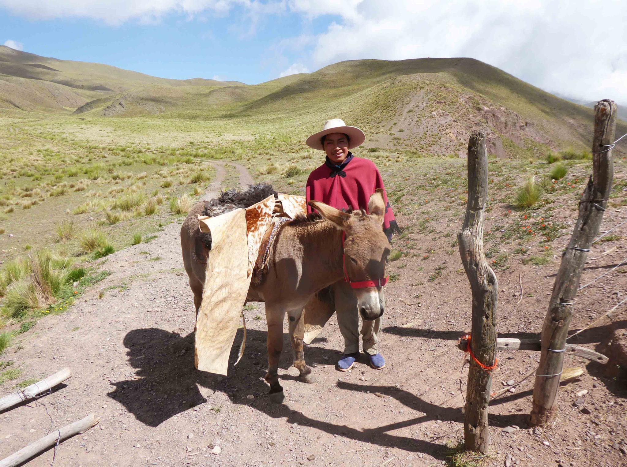 A la Cuesta del Obispo (3457 m) ce peon est immortalisé