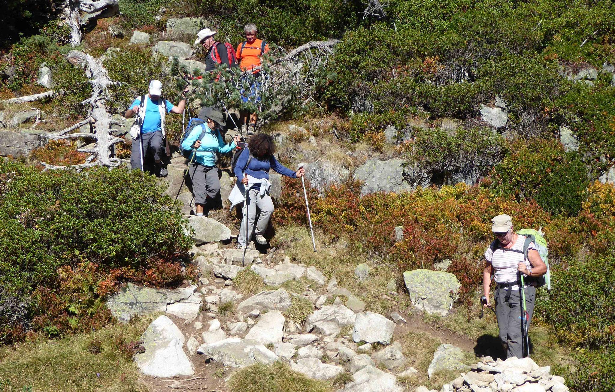 Fin de parcours agrémenté de quelques passages en rochers