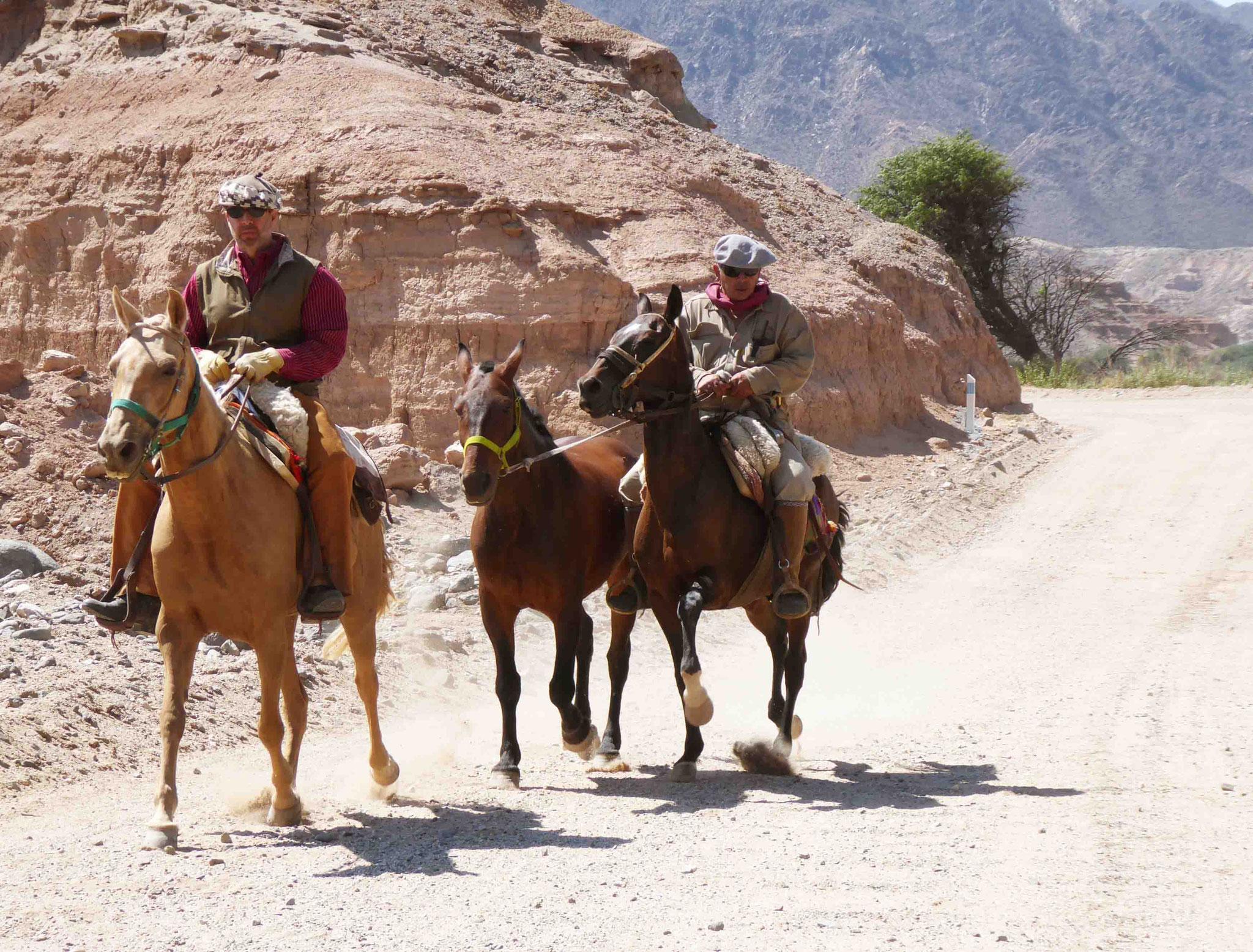 Sur la piste, les gauchos de retour à l'hacienda