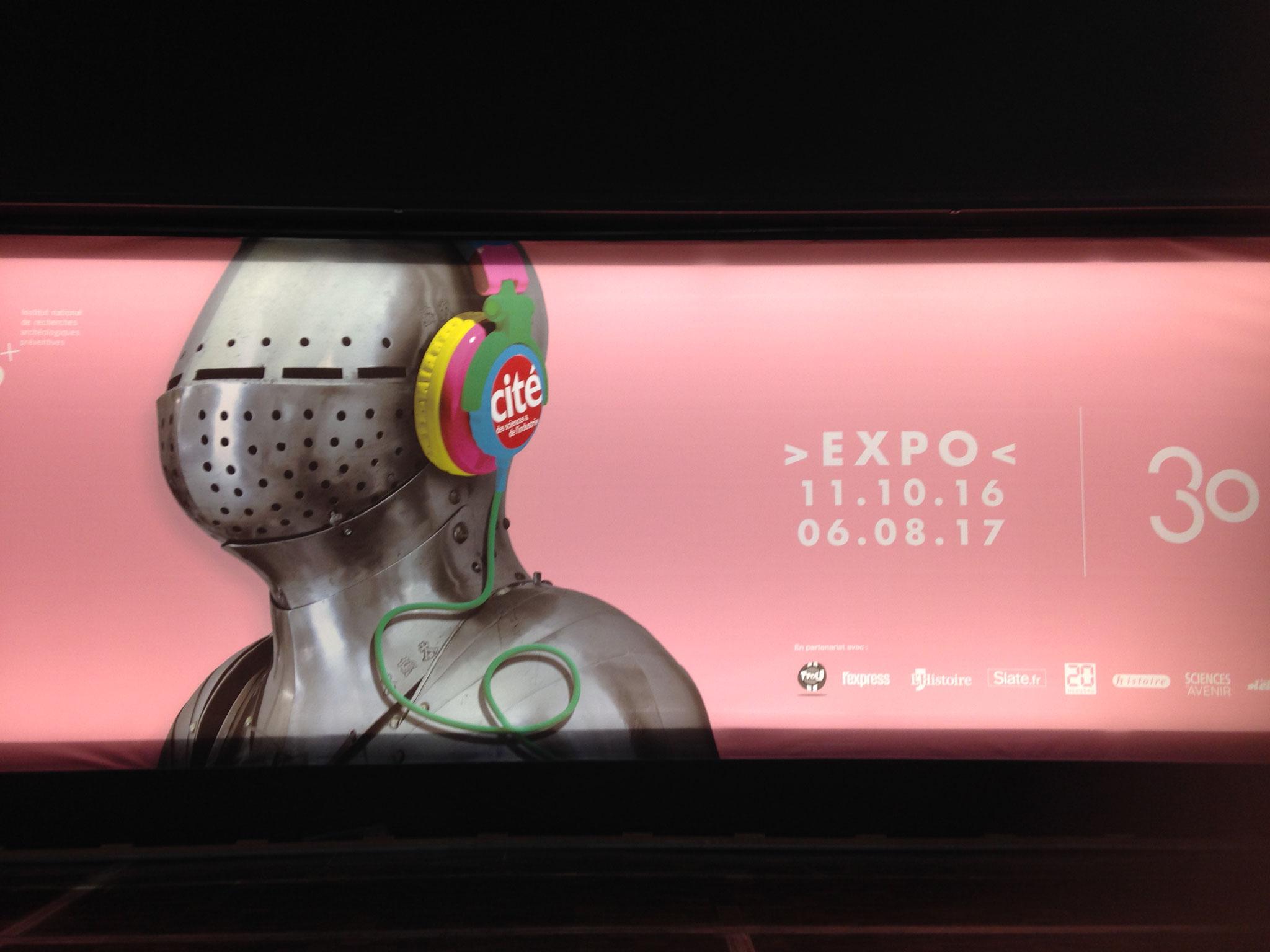 """""""Quoi de neuf au Moyen Âge"""",  une exposition à la cité des sciences et de l'industrie de Paris jusqu'au 6 août 2017"""