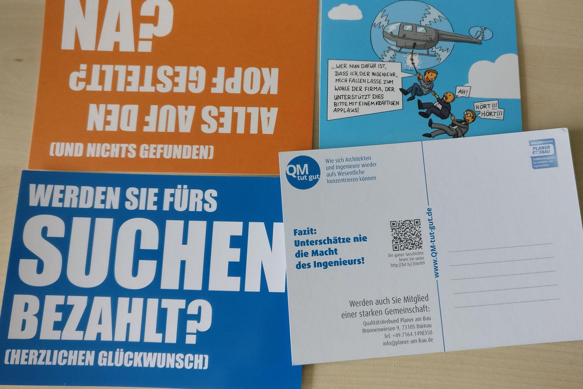 Postkarten-Mailing QualitätsVerbund Planer am Bau