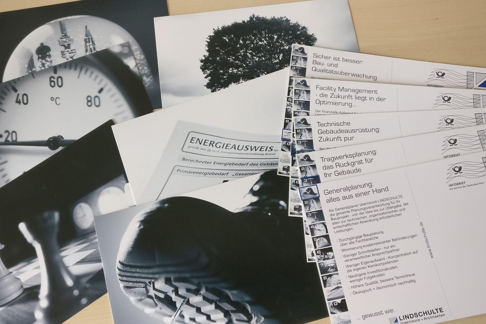 Postkarten-Mailing LINDSCHULTE Ingenieure + Architekten