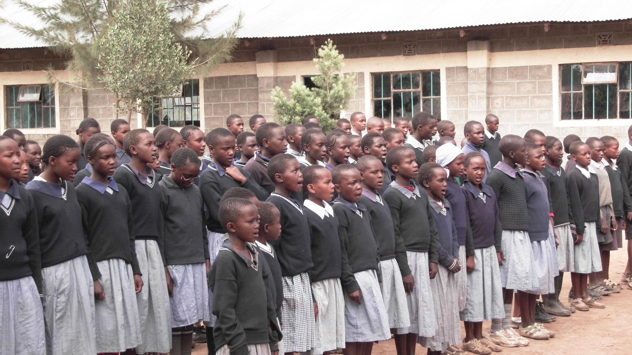 Begrüßungssong für das Kenia-Team