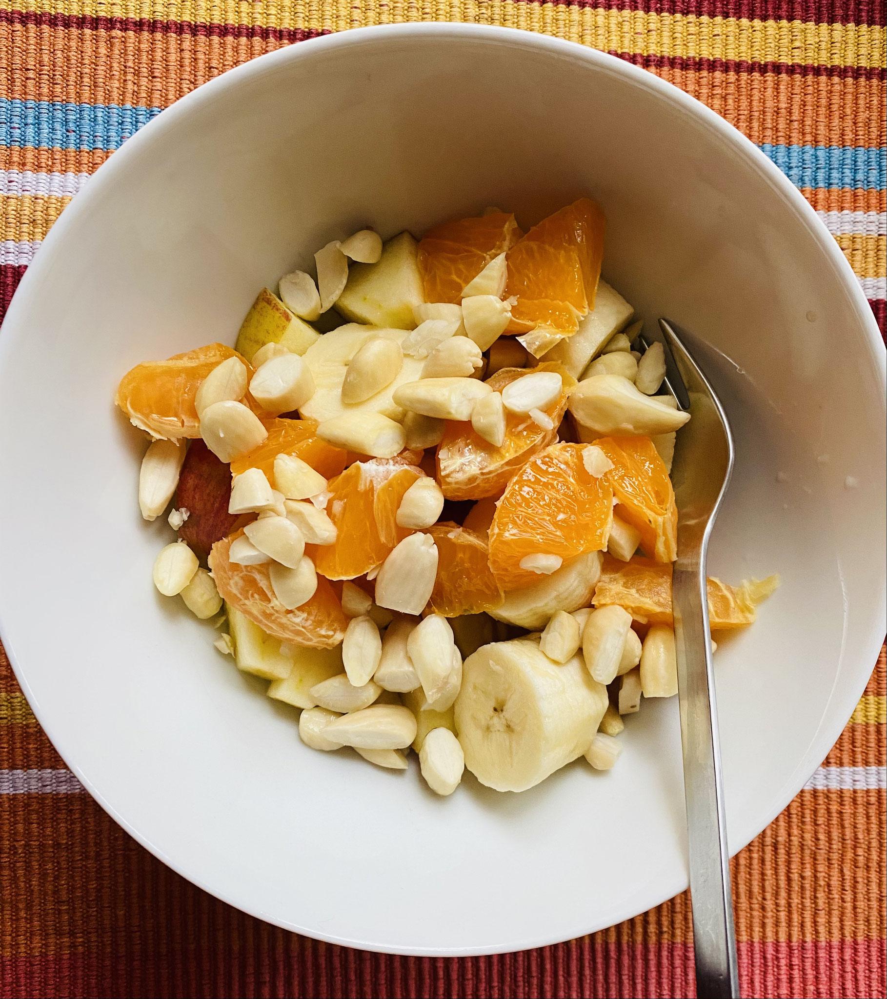 Breakfast in Niederpöcking - an diese Obstschalen könnte ich mich gewöhnen!