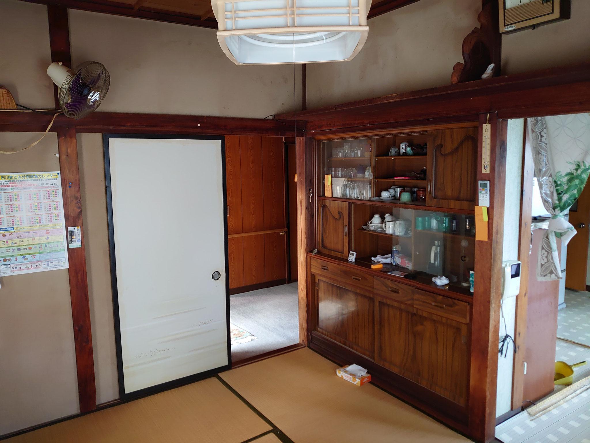 キッチンと居室の2部屋でした。