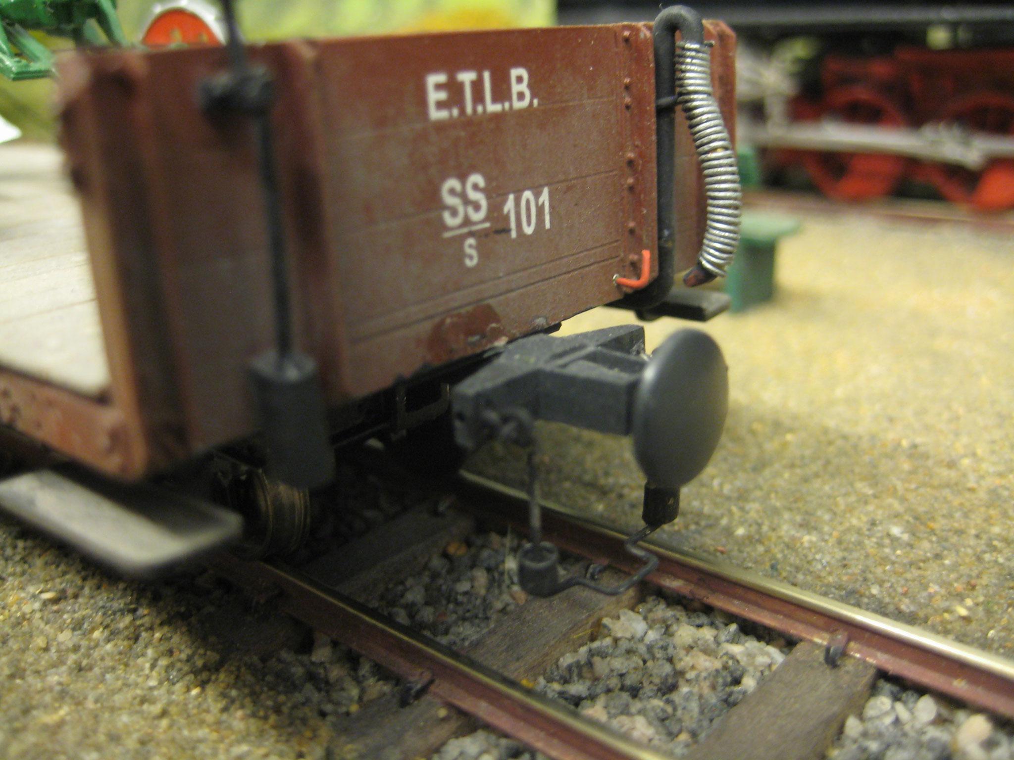 Die Kupplung der ETLB: Seitlich schwenkbar, aber festes Balancier mit Drahtbügel