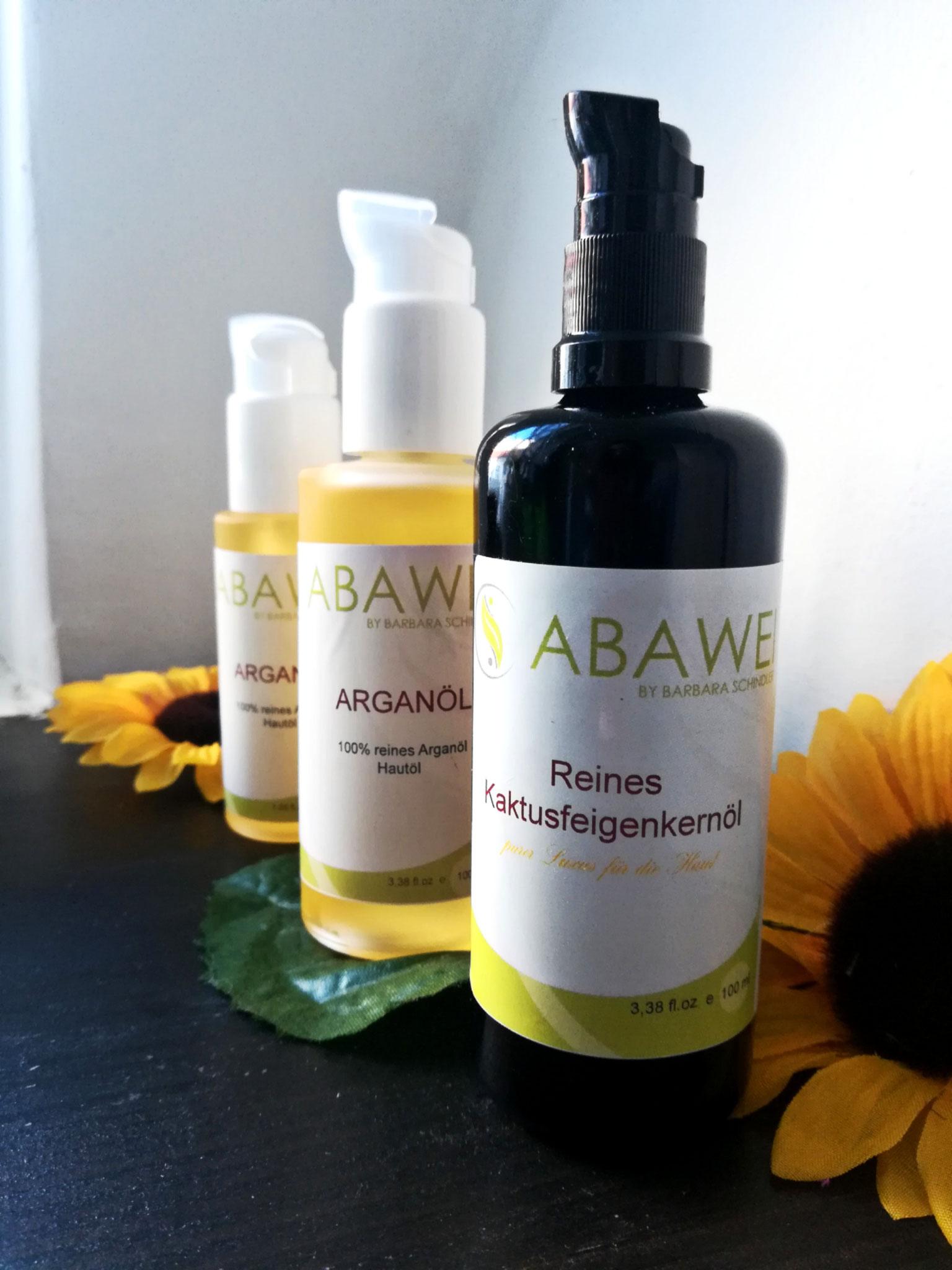 Abawei Arganöl 50ml/100ml, Abawei Kaktusfeigenkernöl