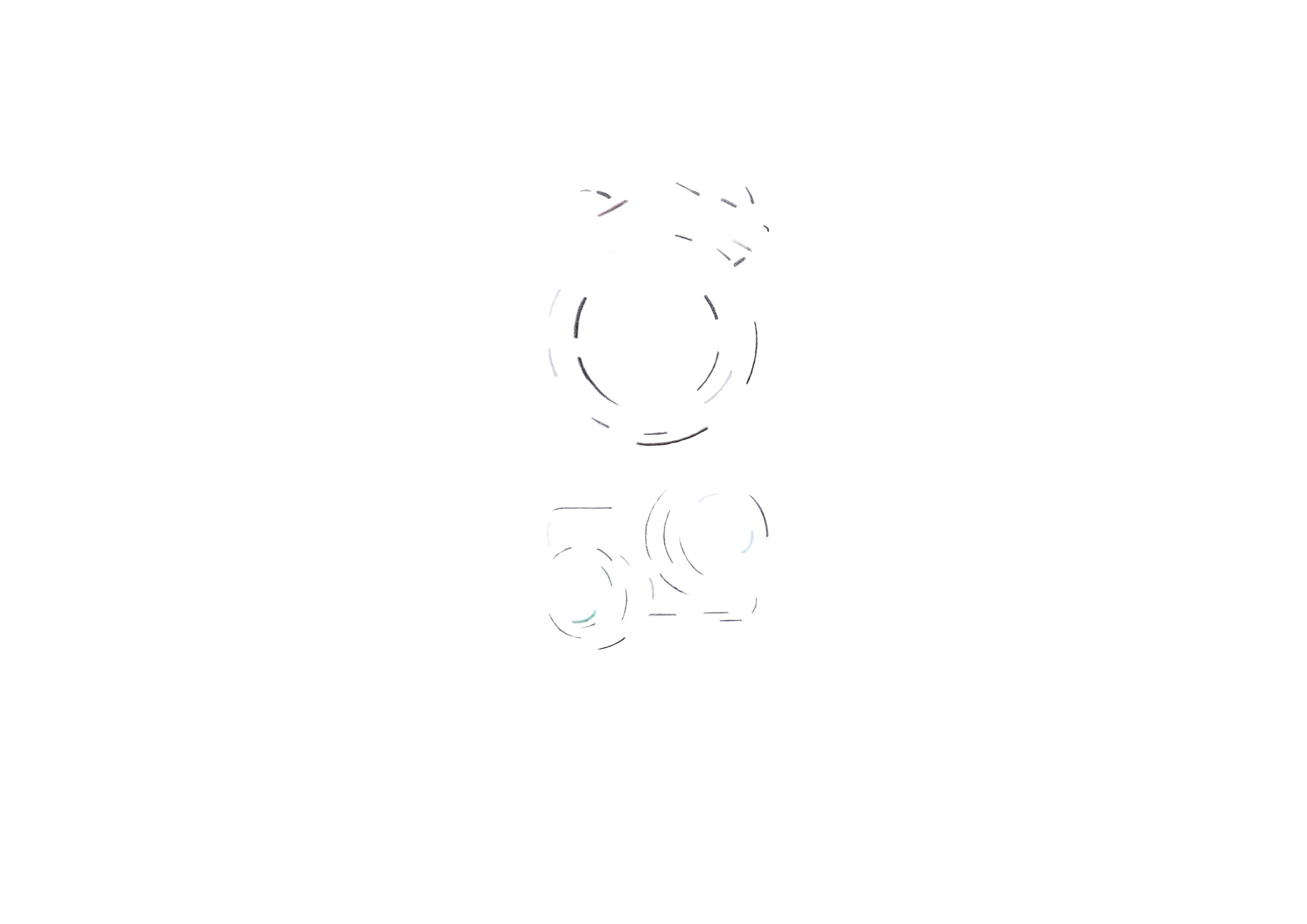 Verfolgen Sie wie unsere neue Schmucklinie Kugelkollektion entsteht  -  Skizze Nr. 1 / 14