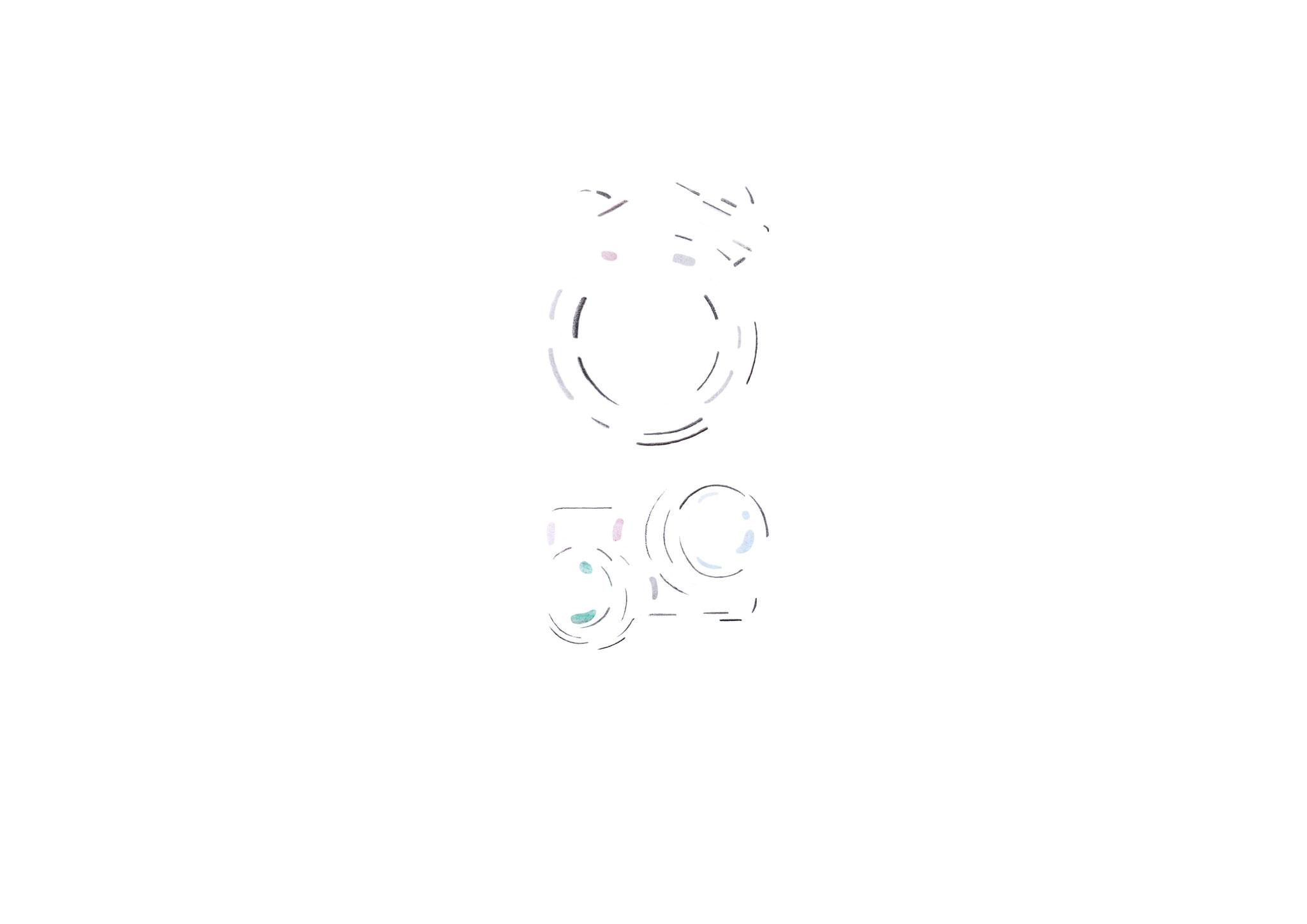 Verfolgen Sie wie unsere neue Schmucklinie Kugelkollektion entsteht  -  Skizze Nr. 2 / 14