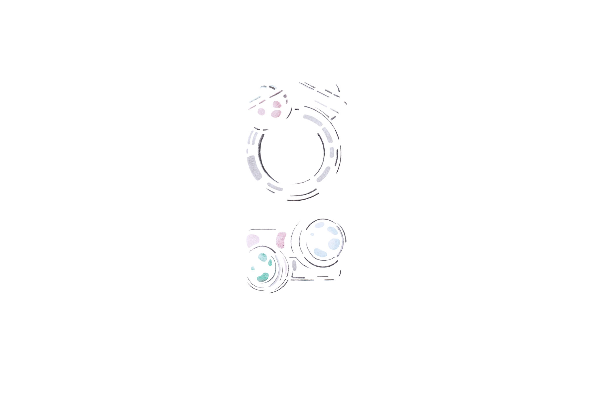 Verfolgen Sie wie unsere neue Schmucklinie Kugelkollektion entsteht  -  Skizze Nr. 4 / 14