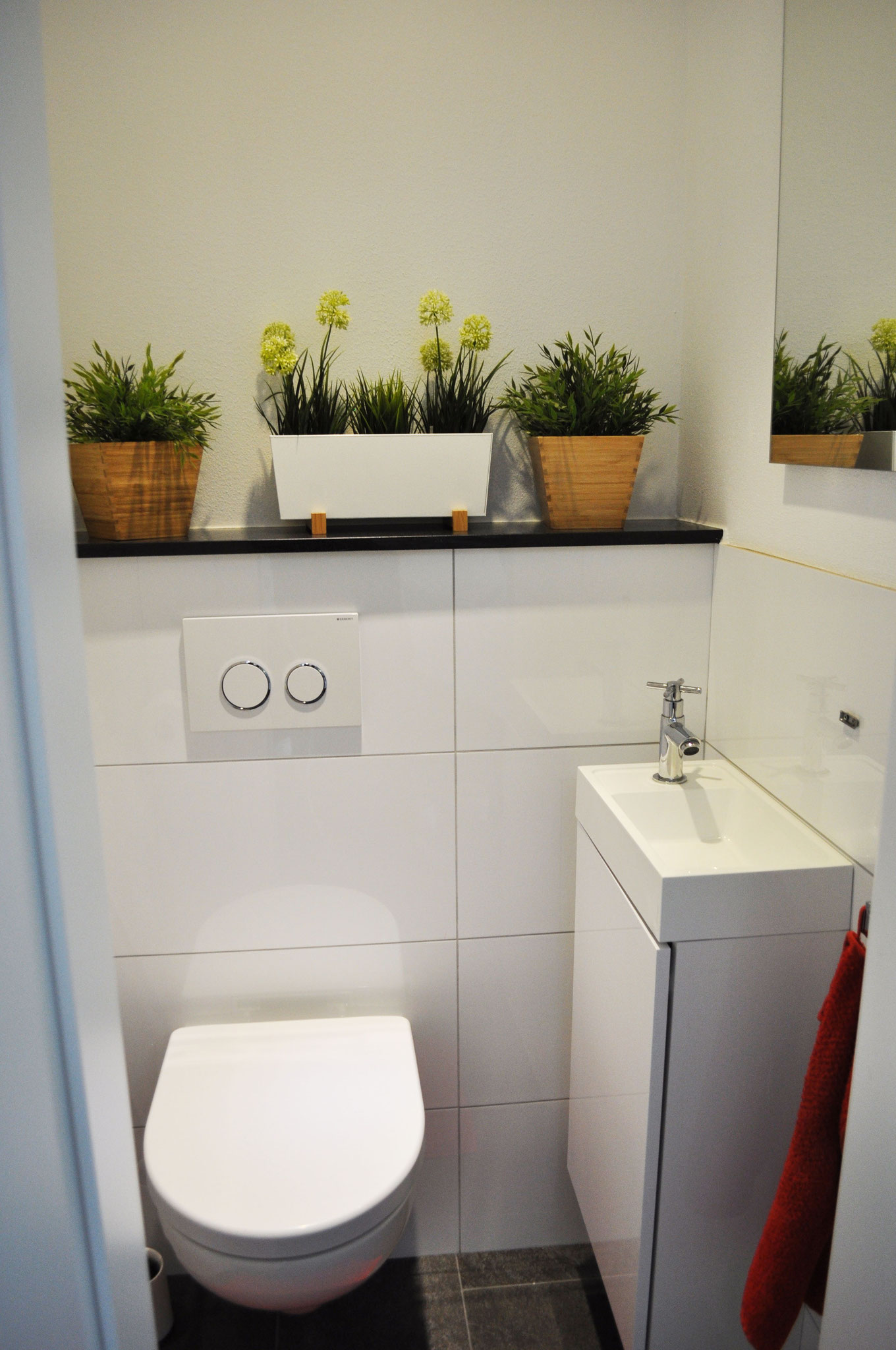 Gäste-WC, Fliesen, Sanitär