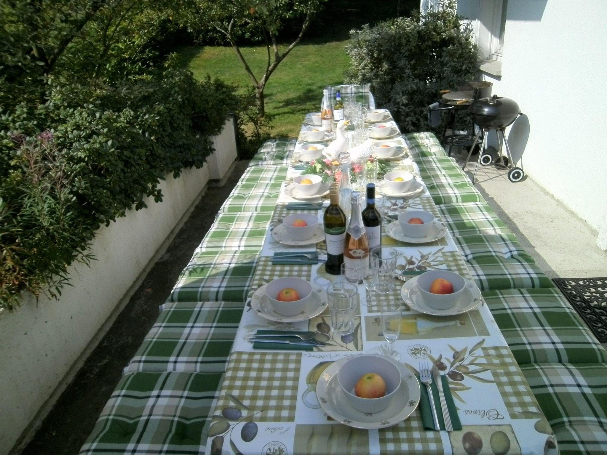 Terrasse für 14 Pers.