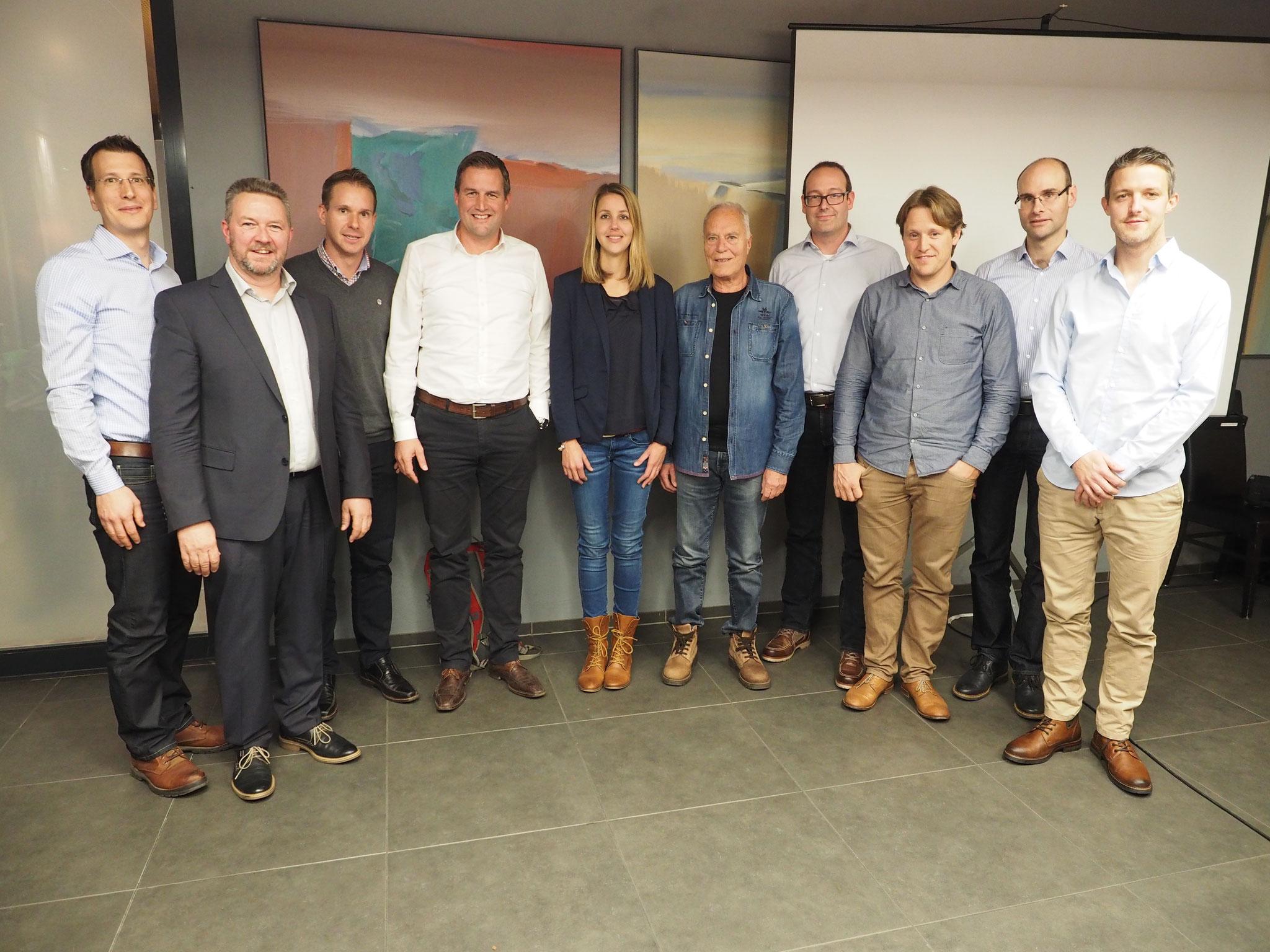 OVB-Vorstand und Neumitglieder anlässlich der 52. GV vom 11. November 2016