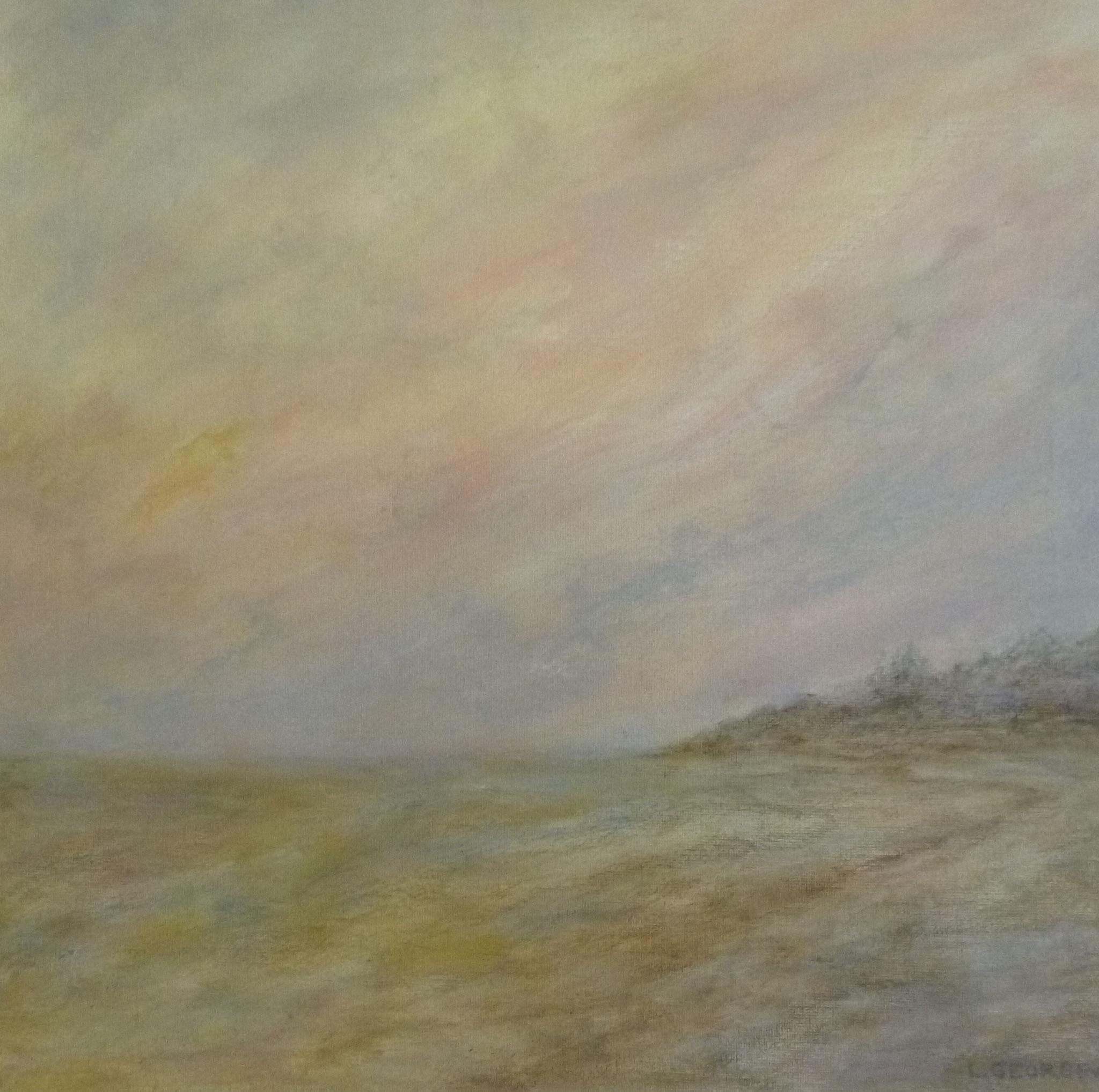 HORIZON, acrylique sur toile, 40x40 cm