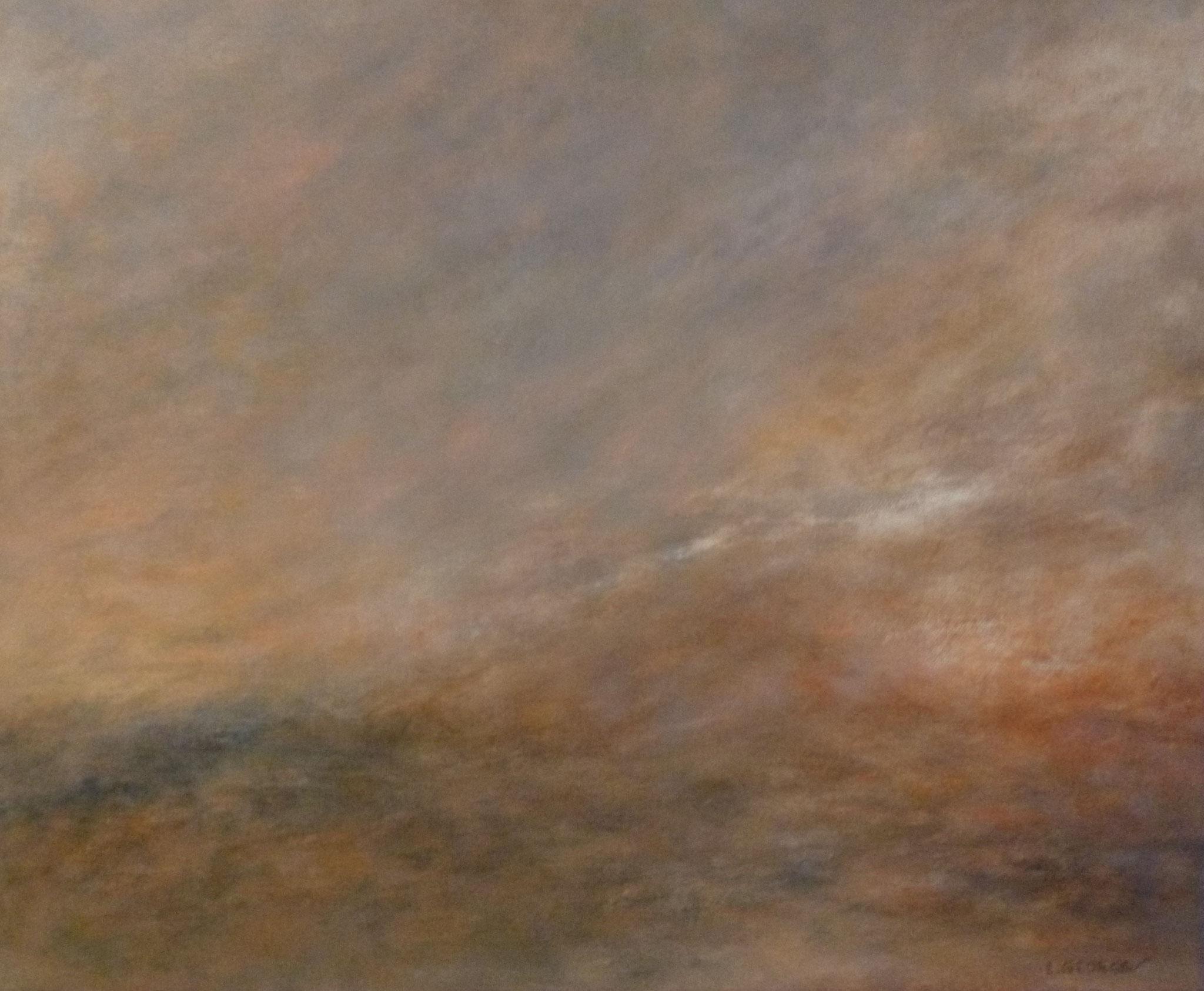 EMBRASEMENT, acrylique sur toile, 46x56 cm
