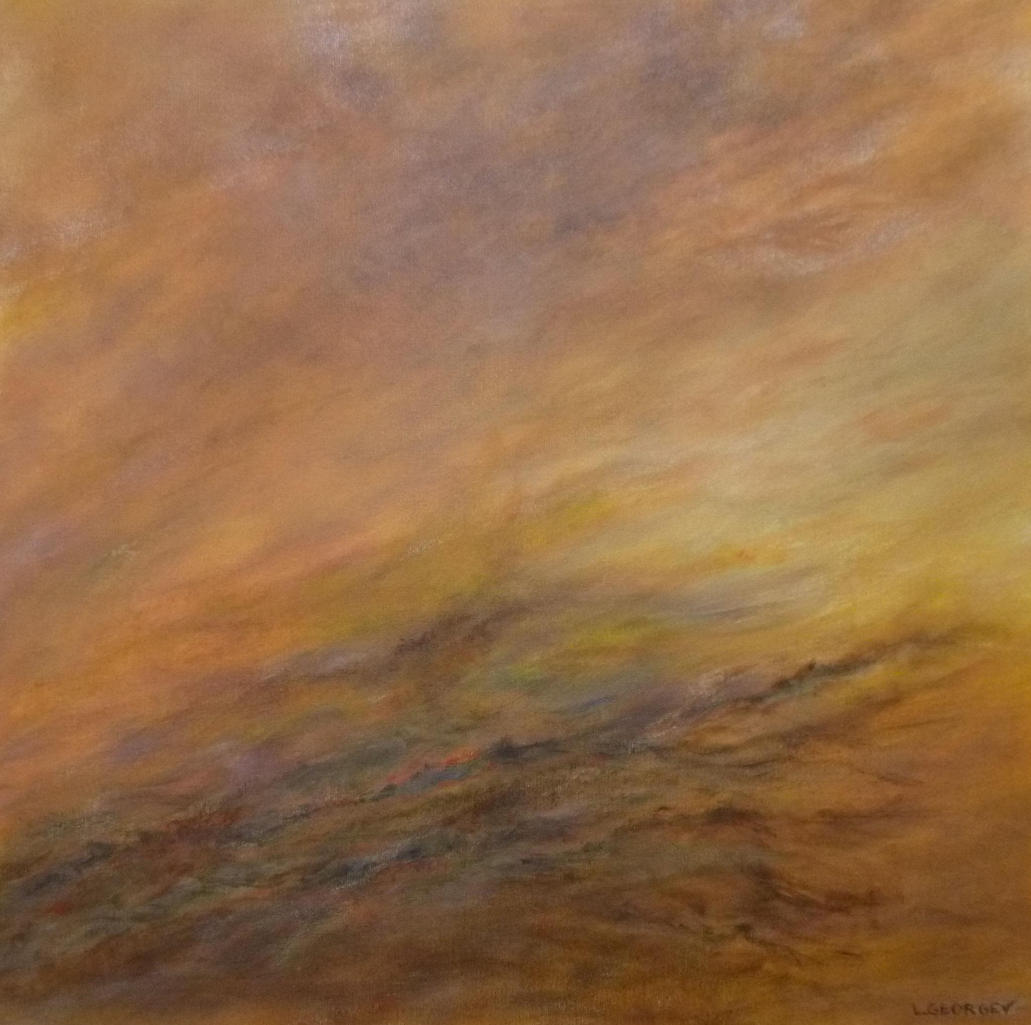 FLAMBOIEMENT, acrylique sur toile, 60x60 cm