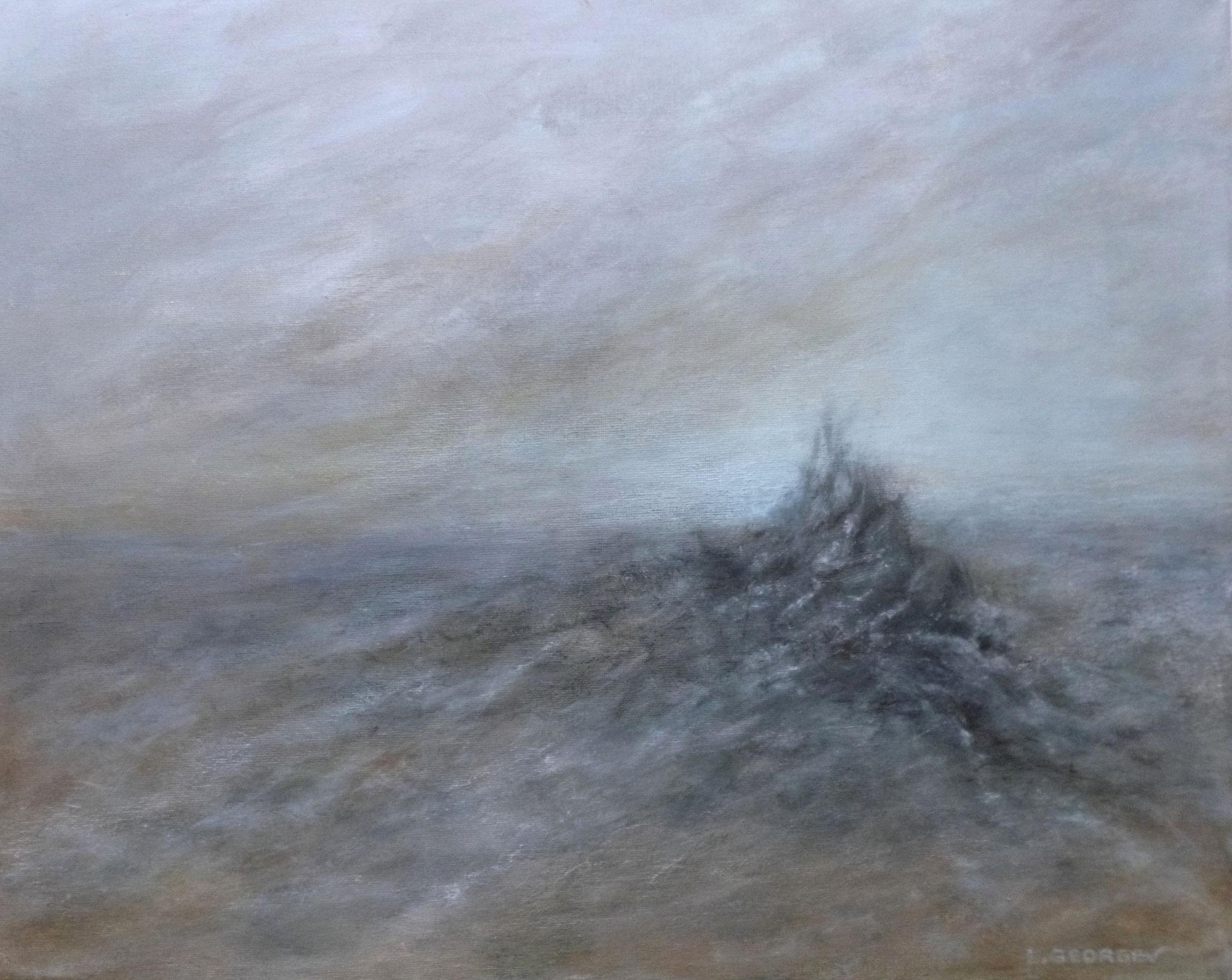 RESSAC, acrylique sur toile, 40x50 cm