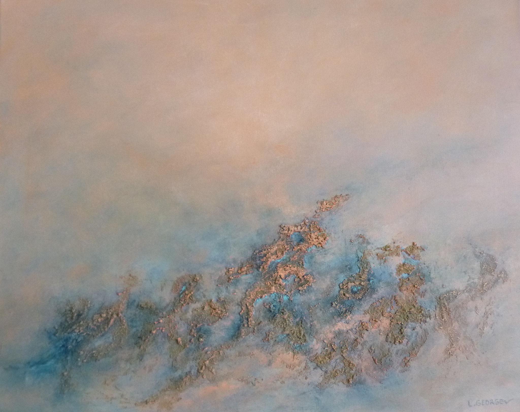 ABYSSES, techniques mixtes sur toile, 40x50cm