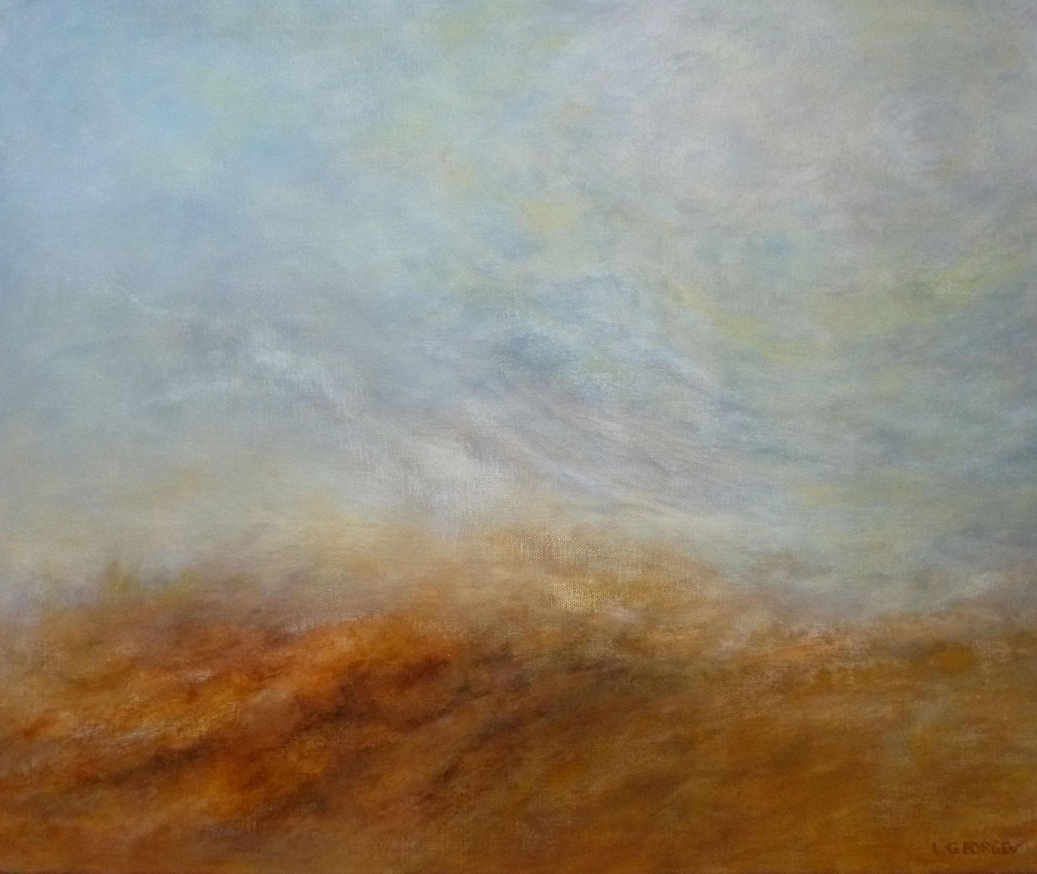 ÉVANESCENCE, acrylique sur toile, 54x65 cm