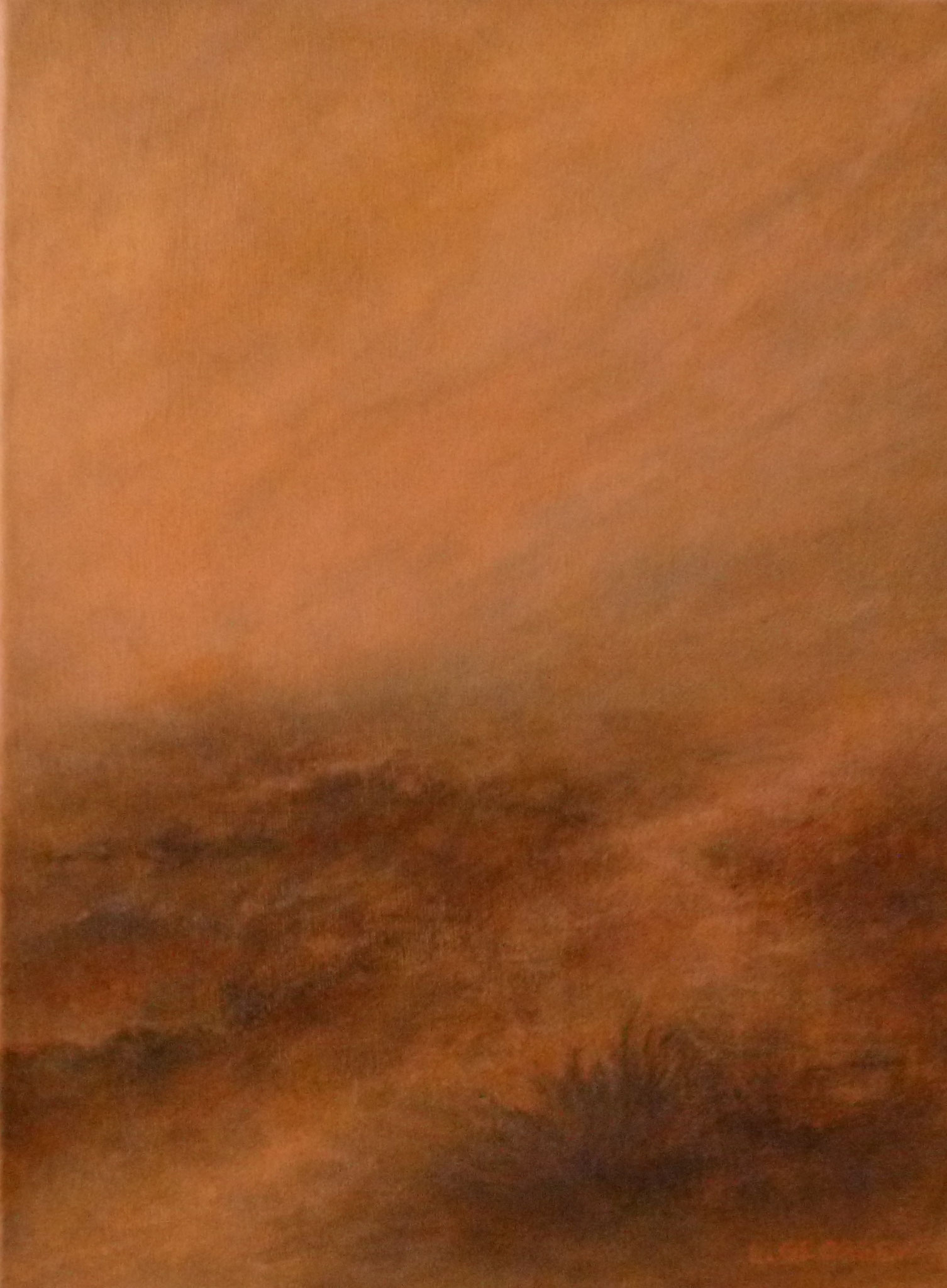 MATINALE, acrylique sur toile, 40x30 cm