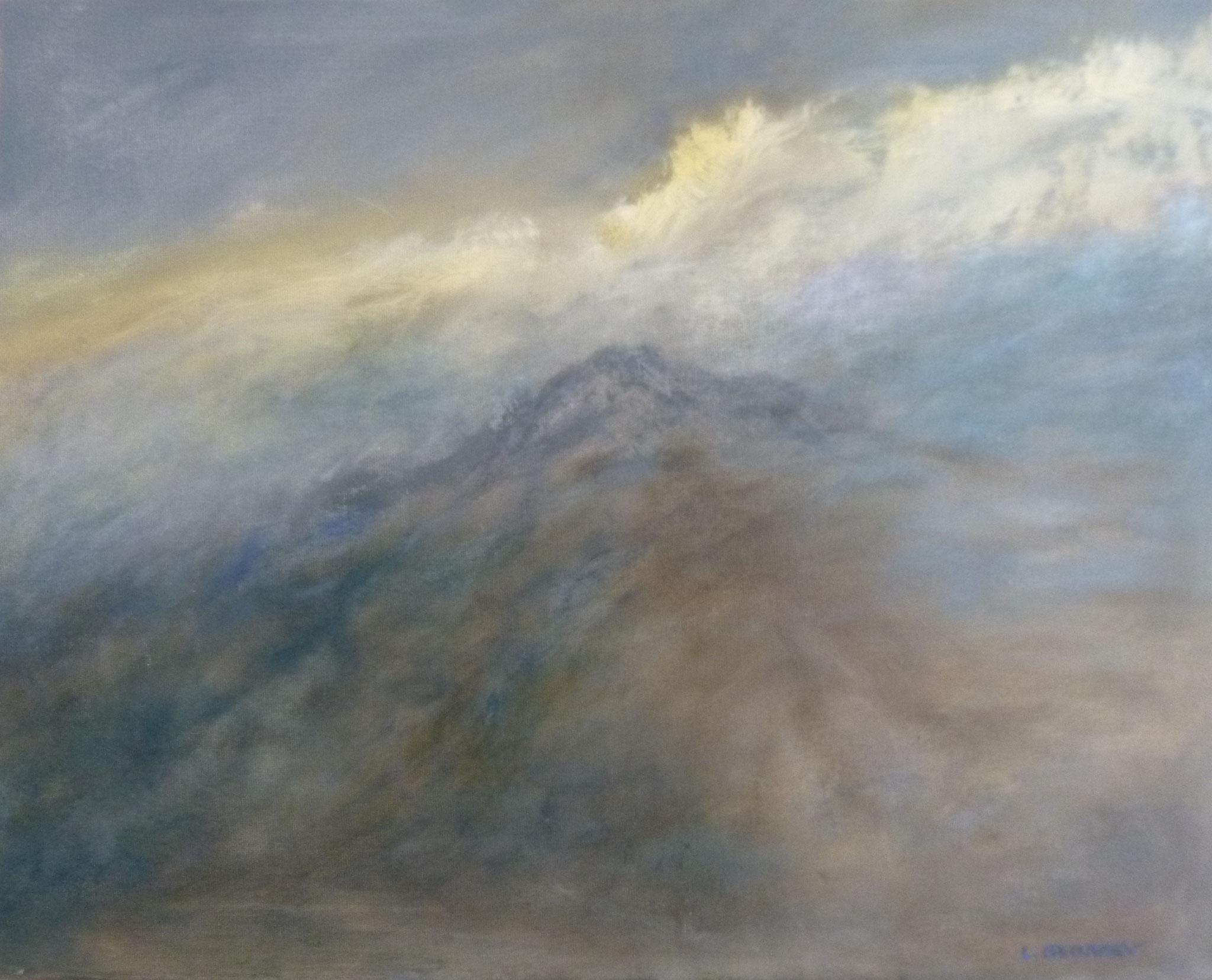 ASCENSION, acrylique sur toile, 40x50 cm