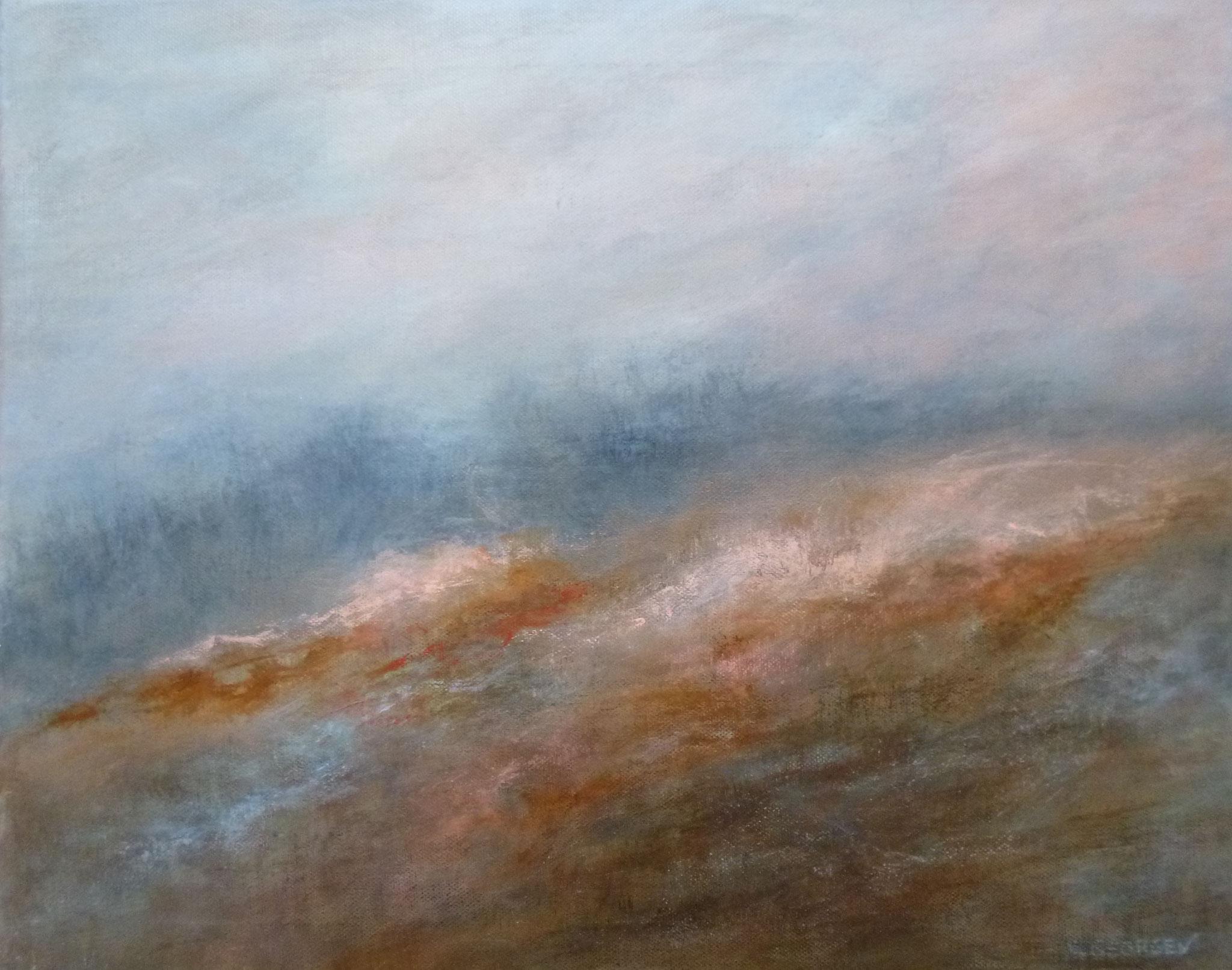 HIVERNALE, acrylique sur toile, 40x50 cm